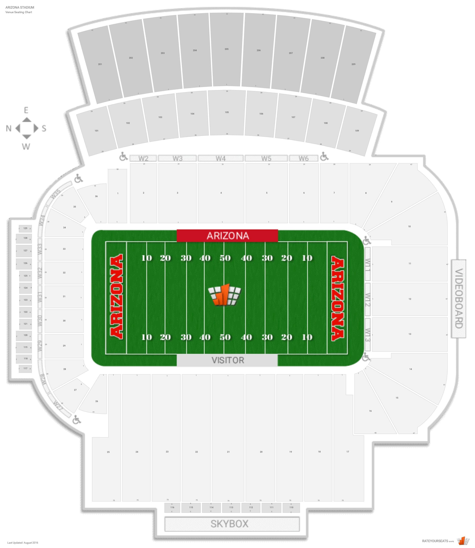 Arizona Football Stadium Map Bnhspine Com