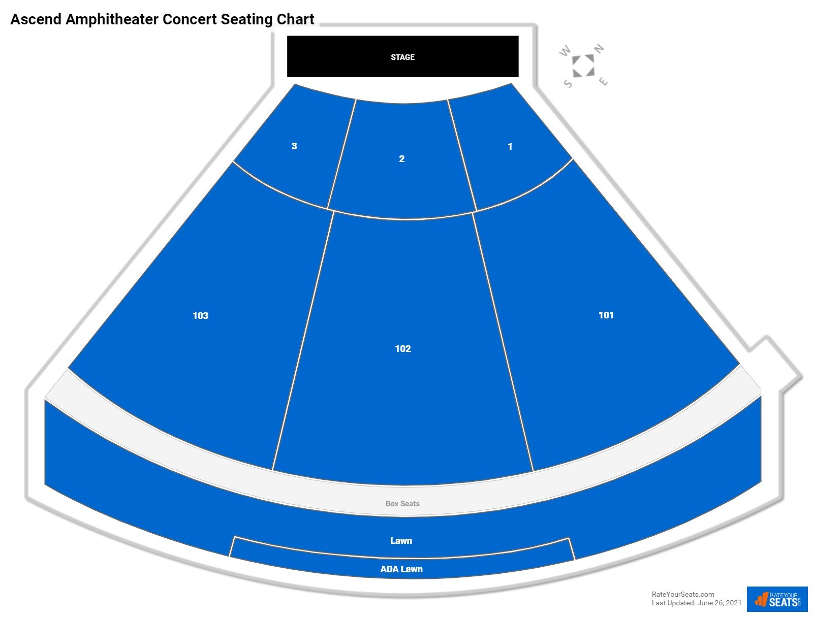 Ascend Amphitheater Seating Chart