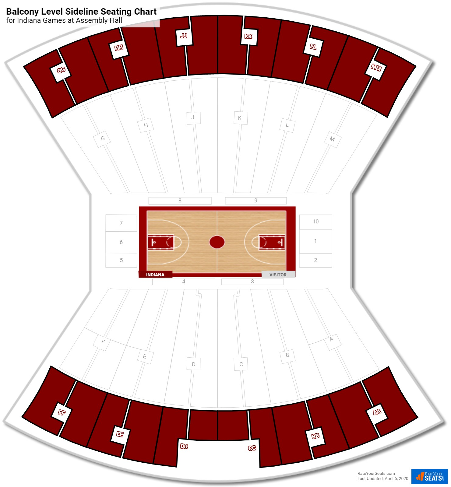 Assembly Hall Indiana Seating Guide Rateyourseatscom