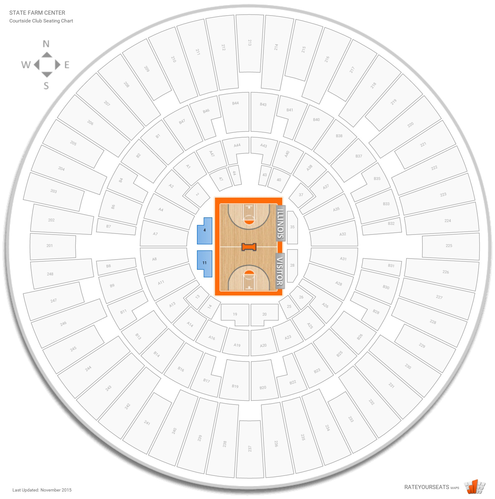 State Farm Center Courtside seating chart
