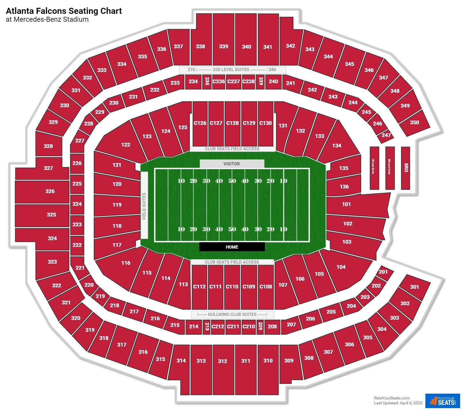 Mercedes Benz Stadium Seating Chart Section Row Seat: Mercedes-Benz Stadium Lower Corner