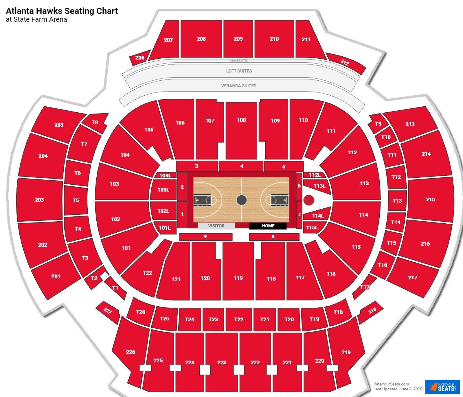 Floor 1 at State Farm Arena - Atlanta Hawks ...