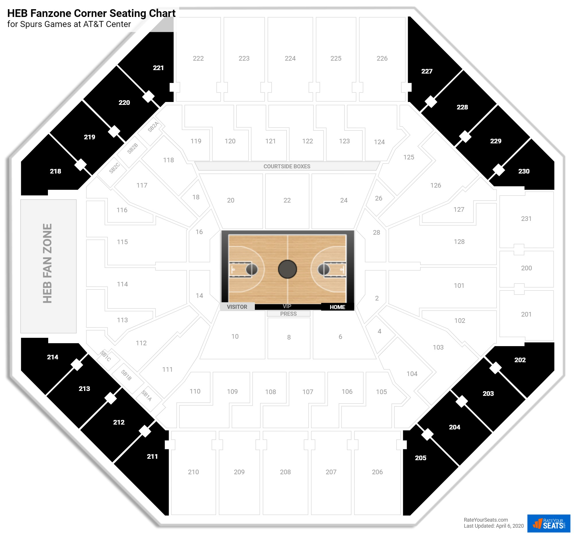 AT&T Center Balcony Corner seating chart