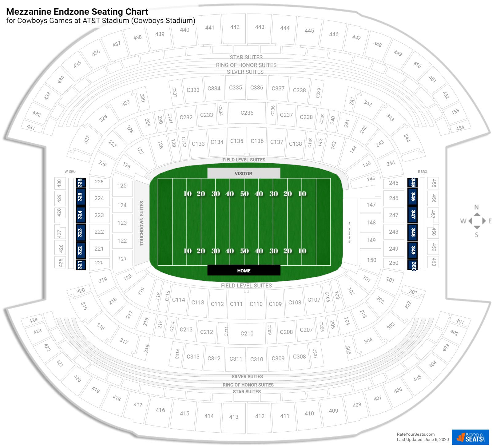 Seating prices prices on us cowboys seating chart new stadium choice