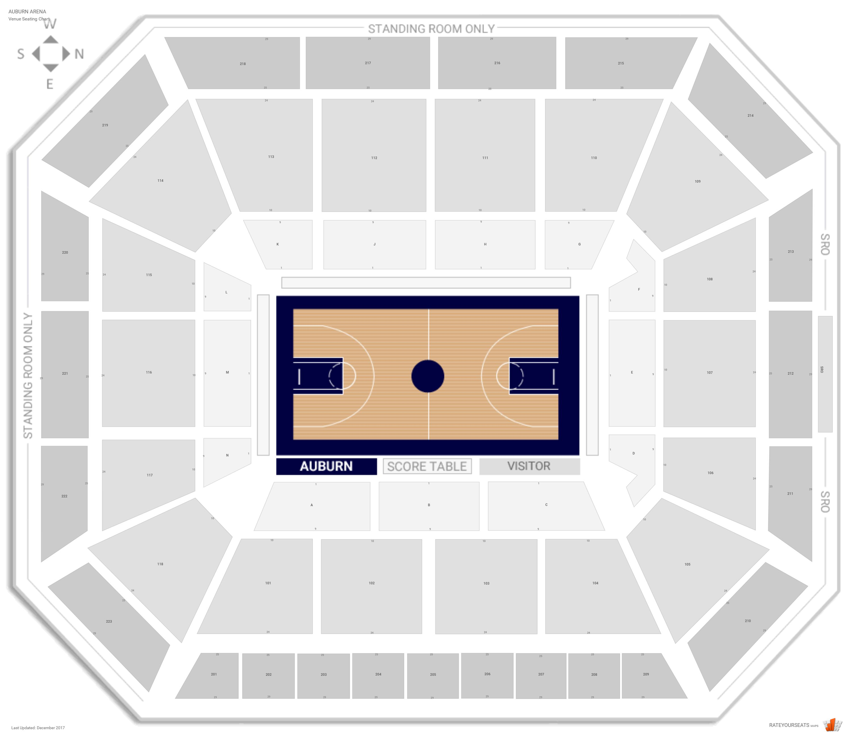 Auburn Arena Auburn Seating Guide Rateyourseats Com