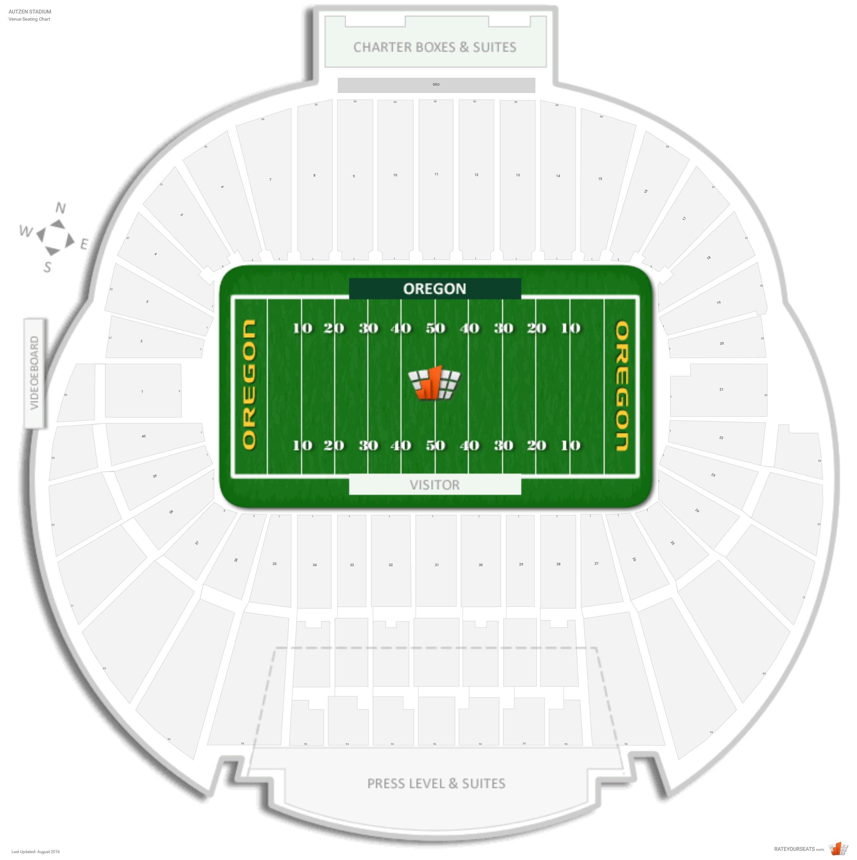 Autzen Stadium Oregon Seating Guide Rateyourseatscom