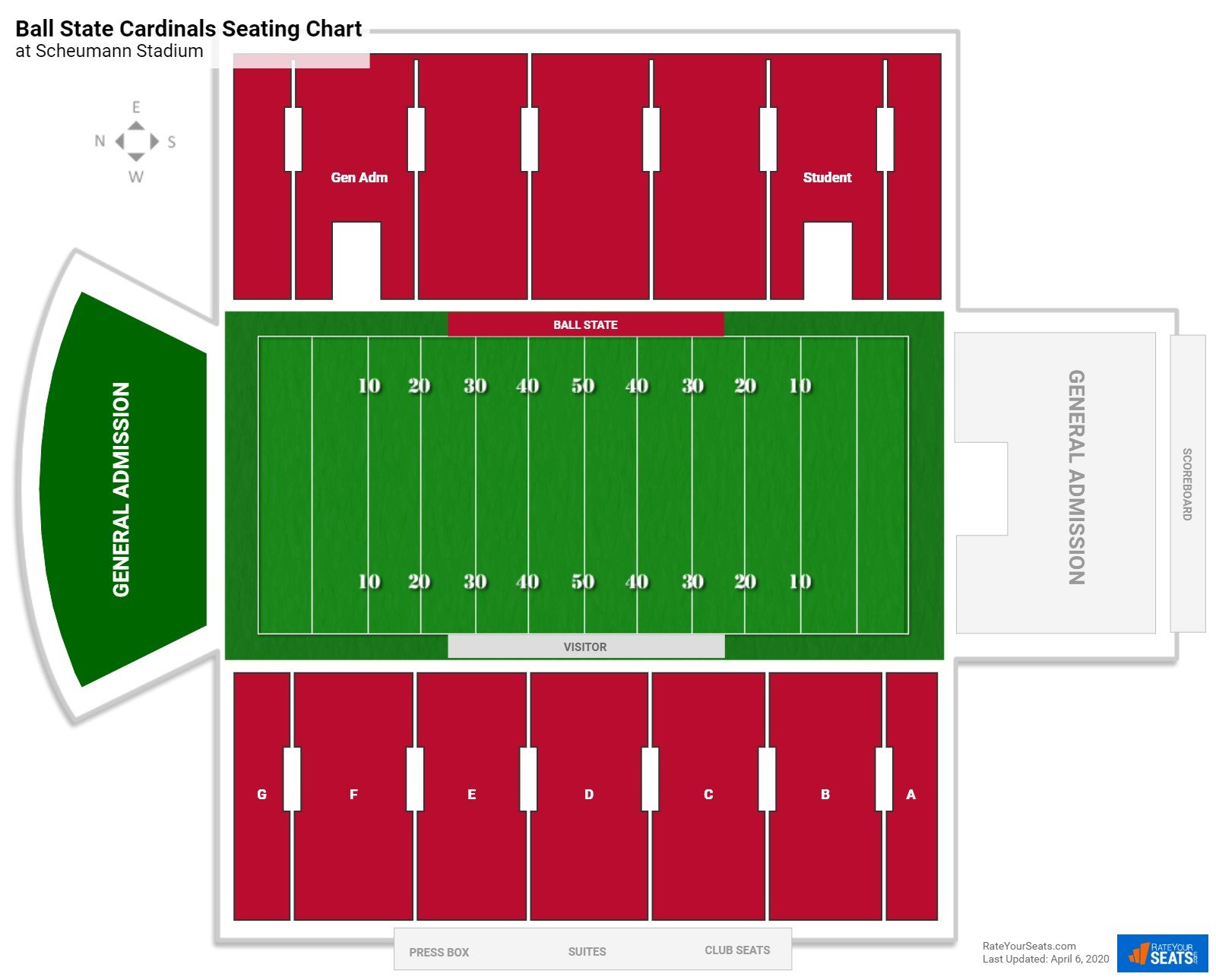 Ball State Football Seating Chart