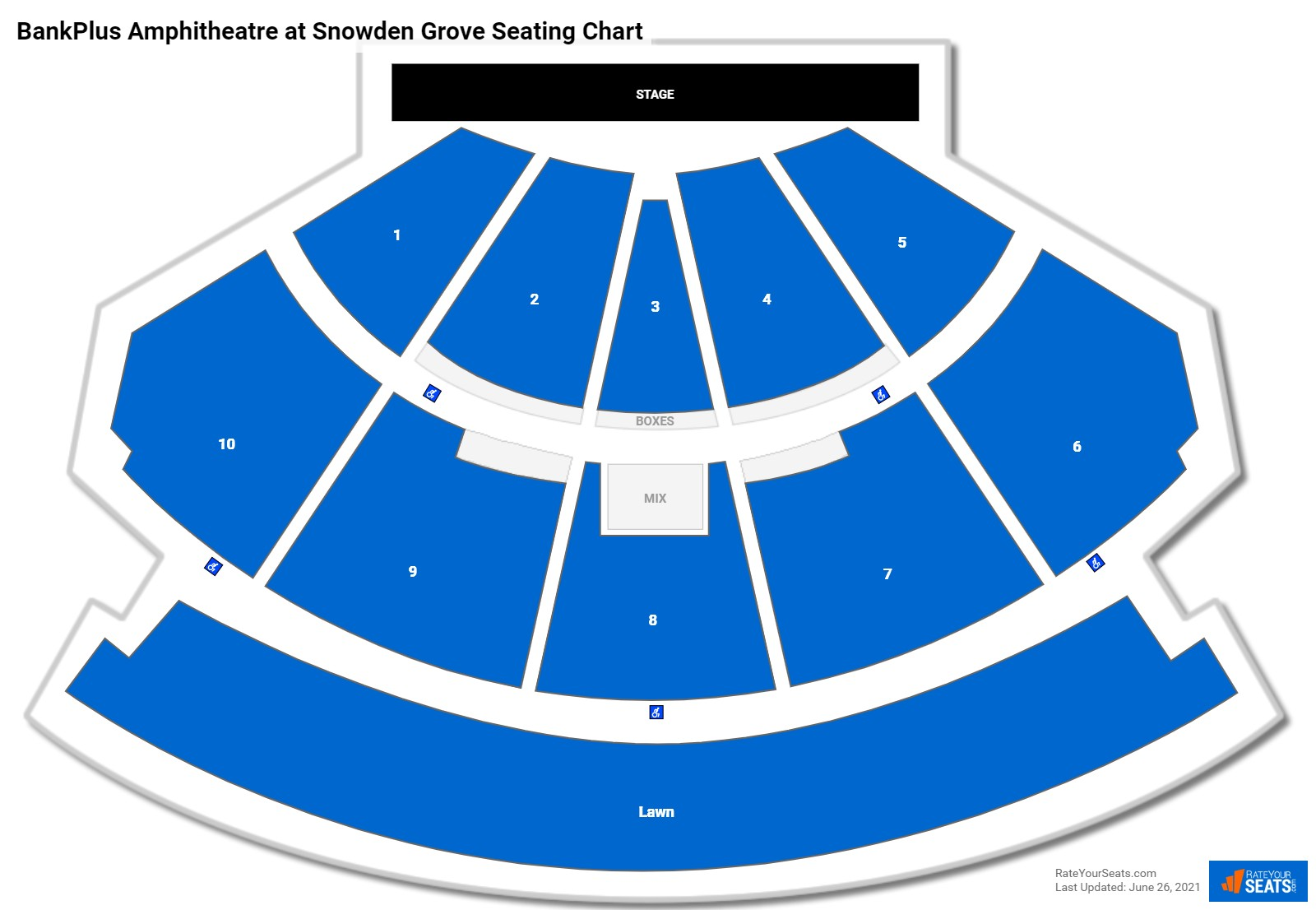 BankPlus Amphitheatre at Snowden Grove Seating Chart