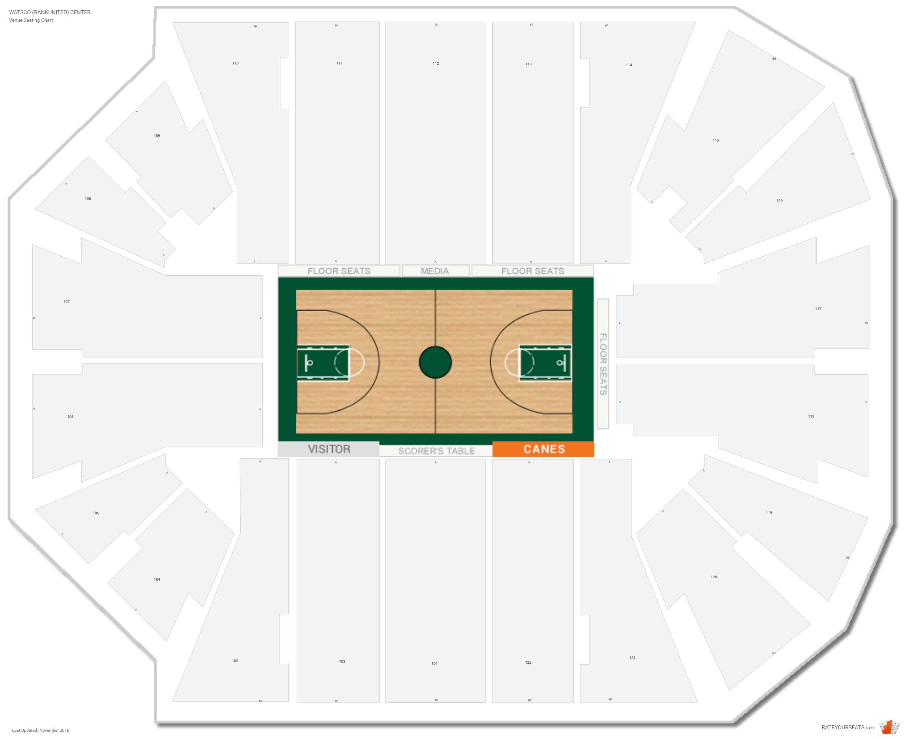 Watsco bankunited center miami fl seating guide