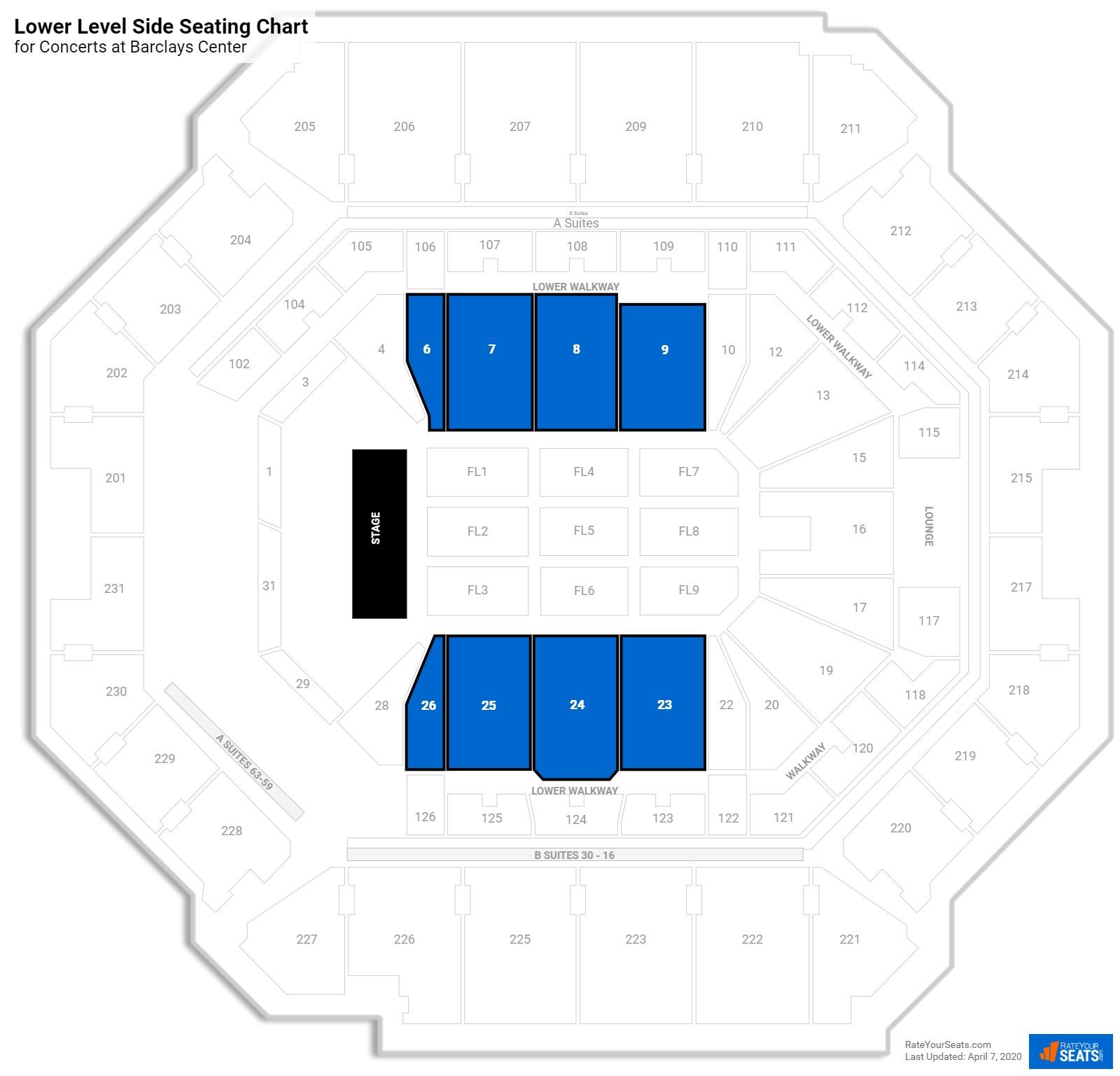 Barclays Center Floor Concert Seating Rateyourseatscom