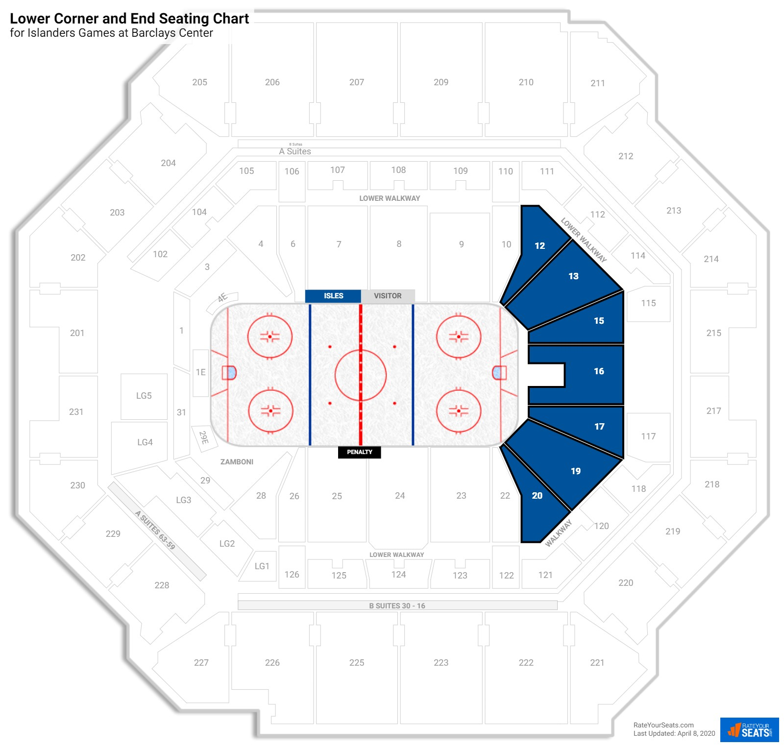 Barclays Center Lower East Side seating chart