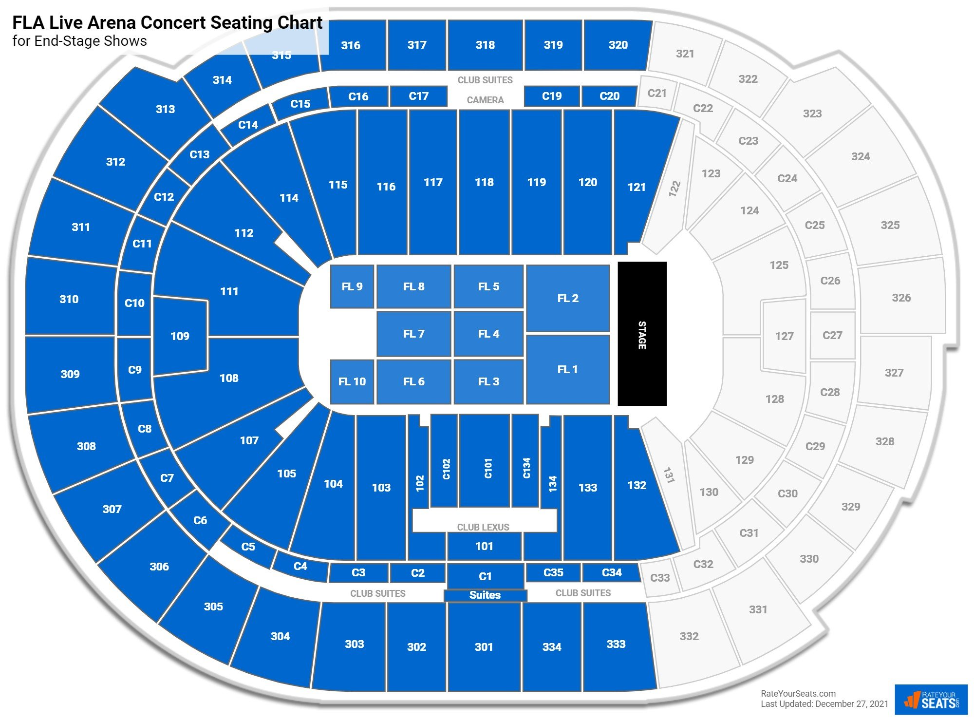 BB&T Center Seating Chart for Concerts
