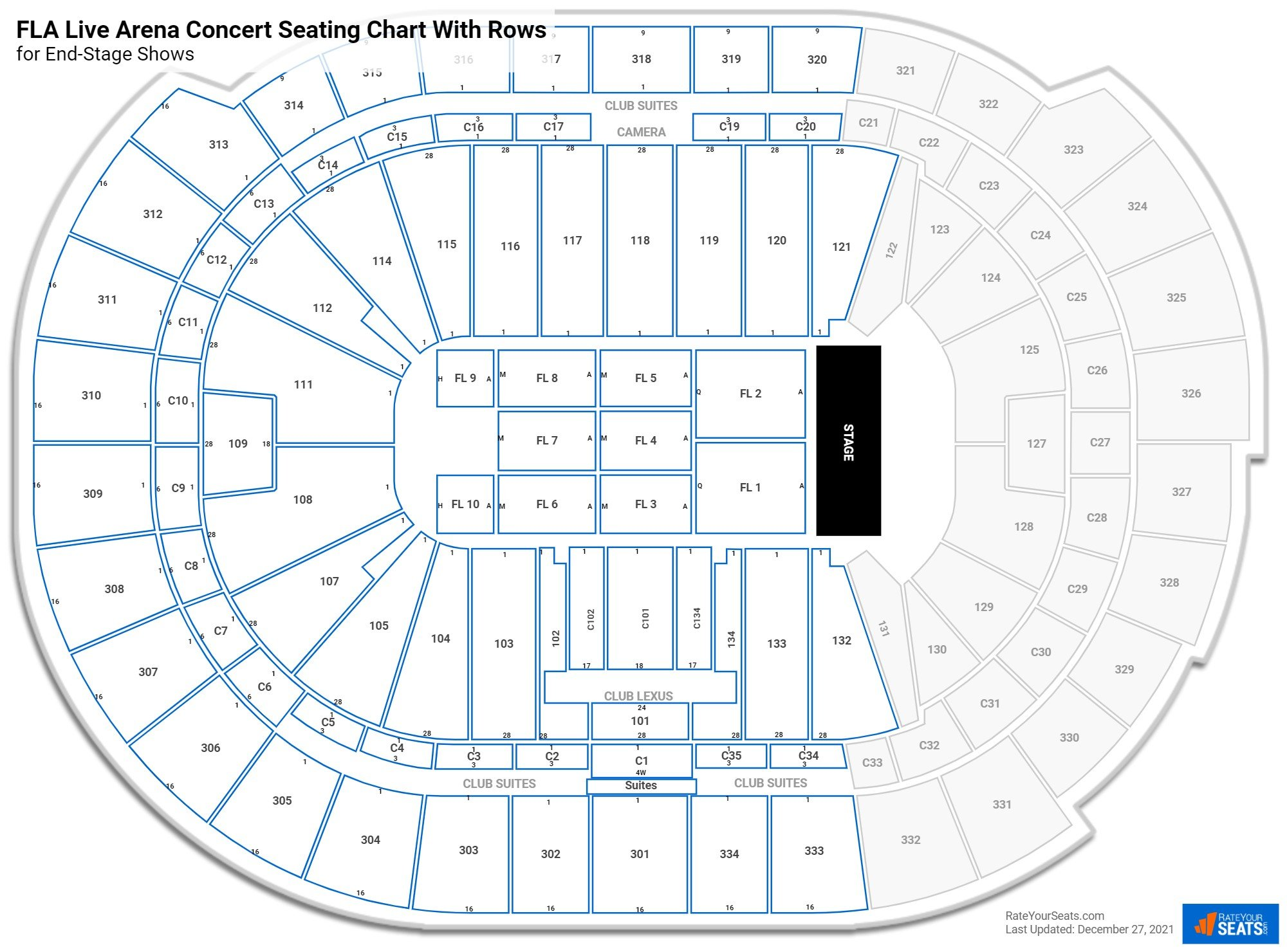 BB&T Center seating chart with rows concert