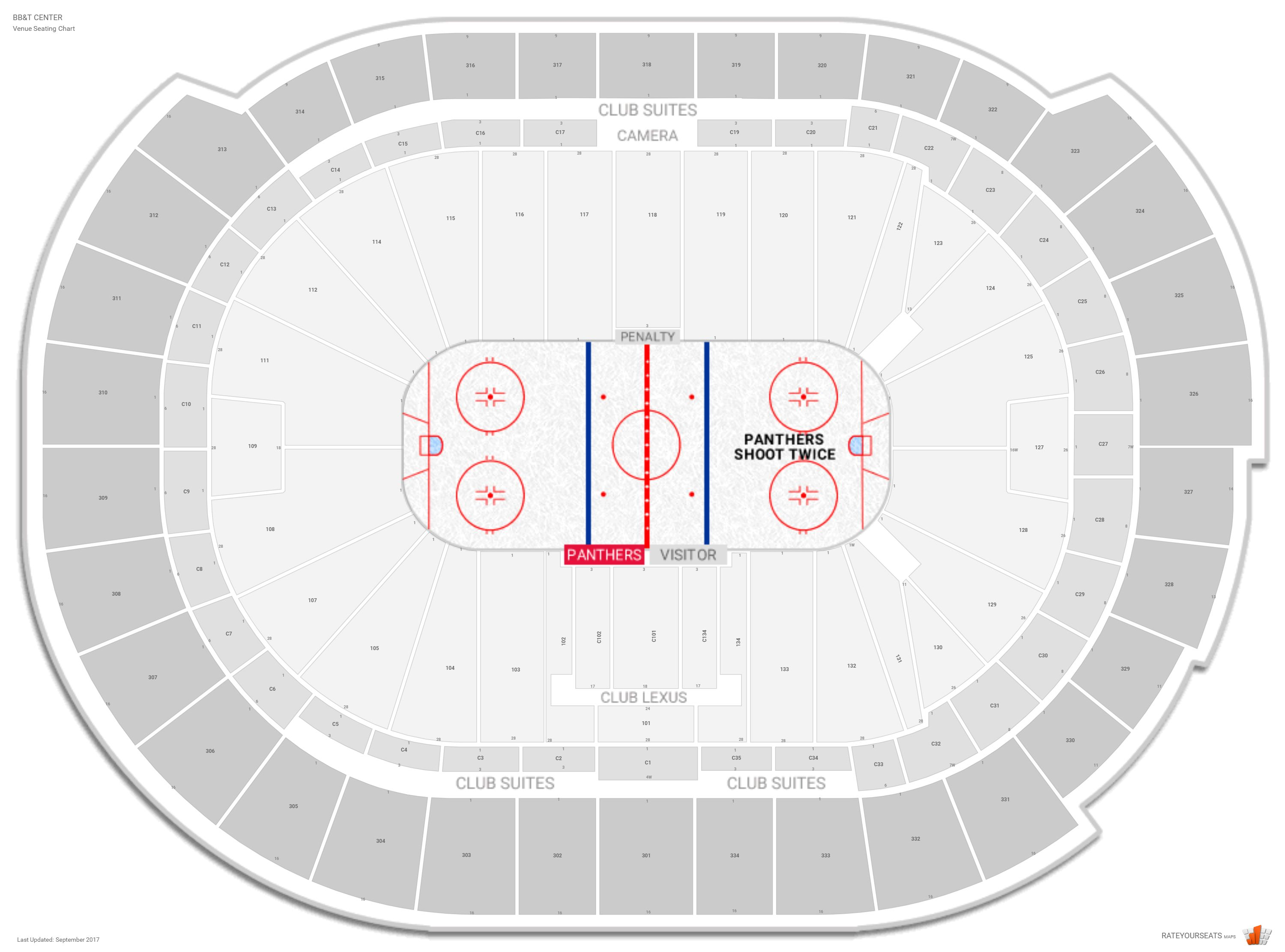 Florida panthers seating guide bb t center rateyourseats com