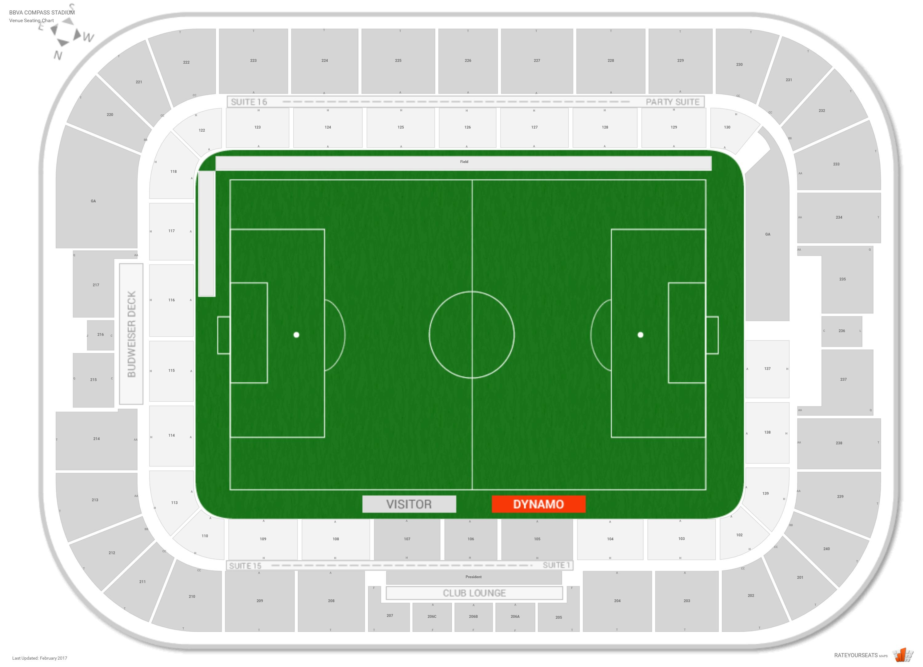 bbva compass stadium seat map