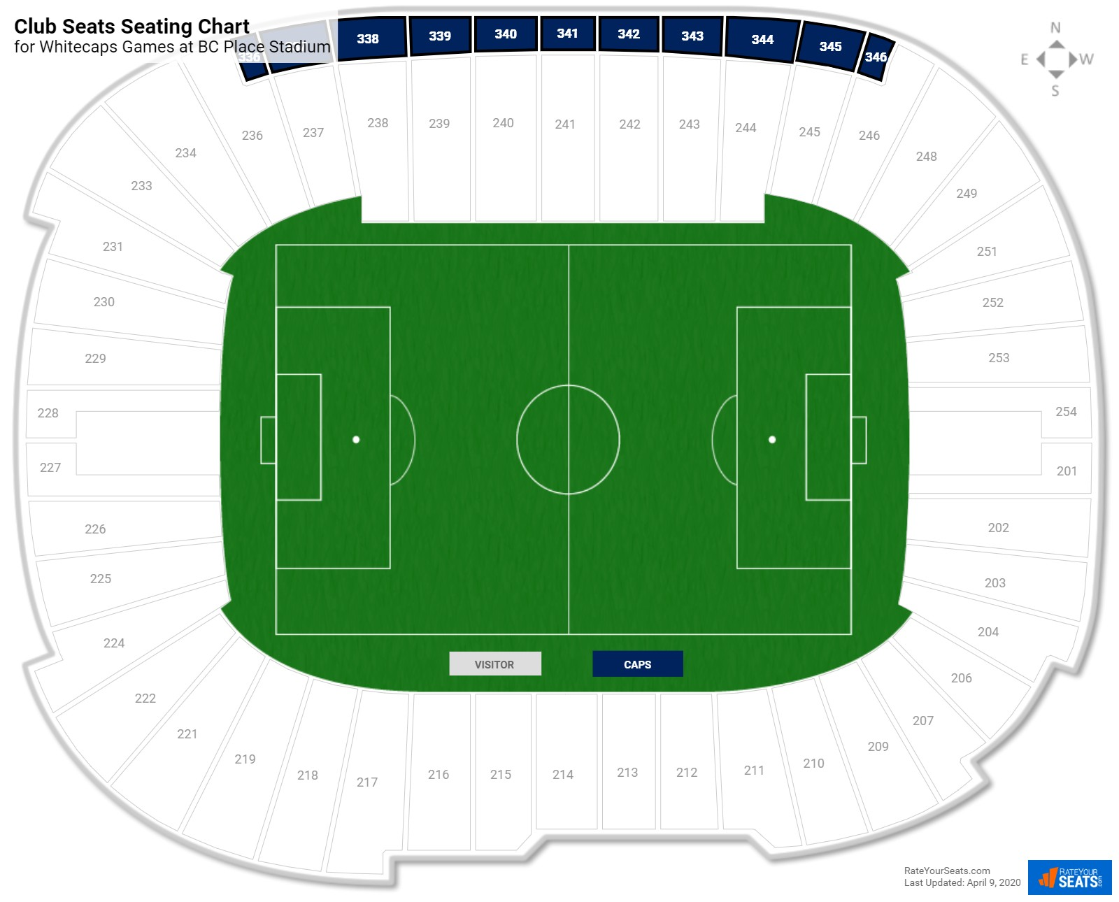 bc place stadium seating guide rateyourseats com