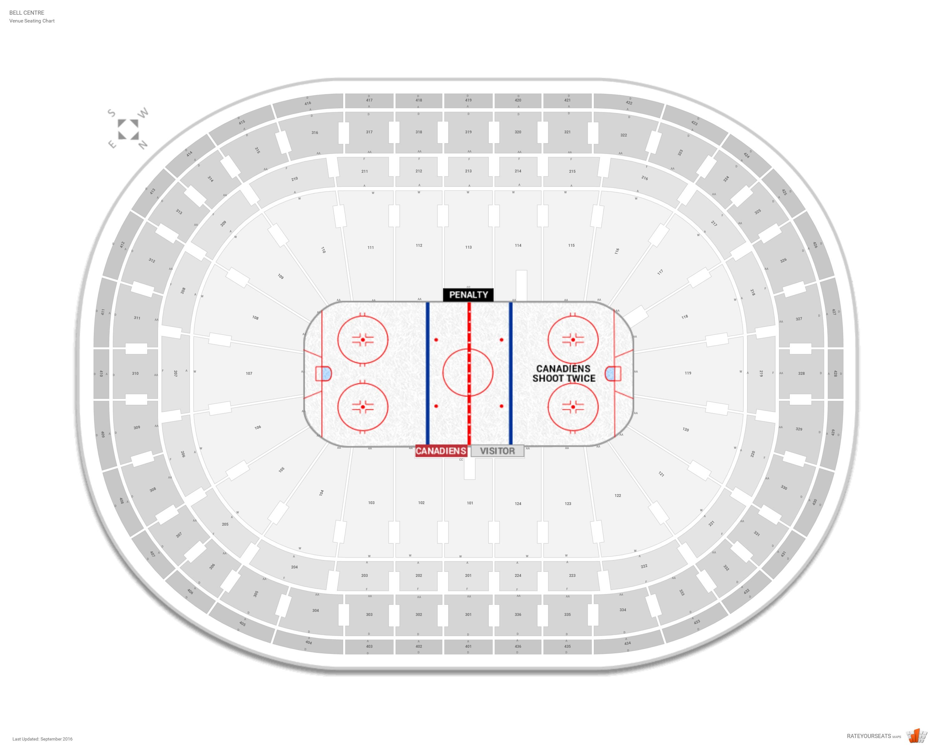 Montreal Canadiens Seating Guide Bell Centre