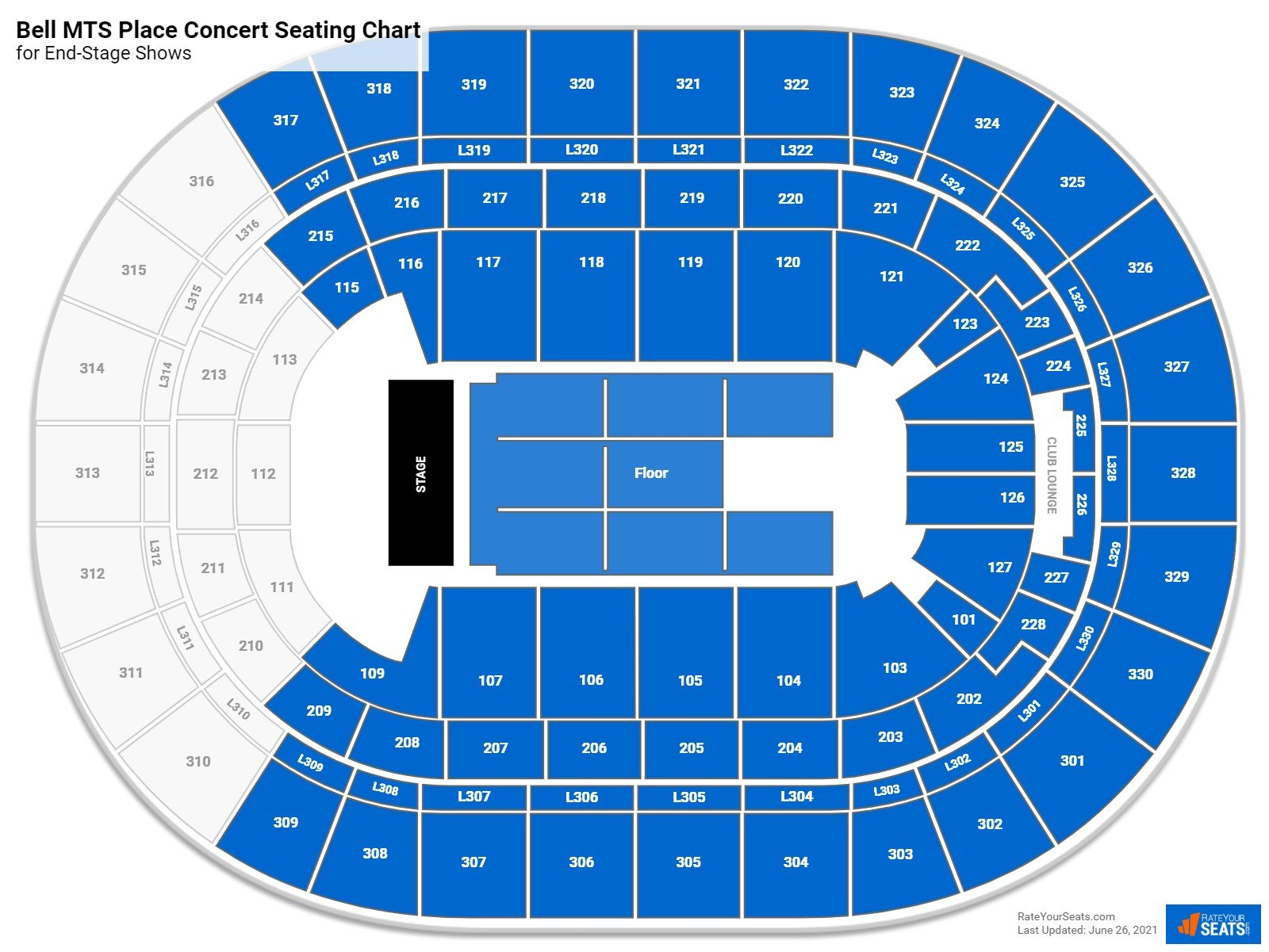 Bell MTS Place Seating Chart for Concerts