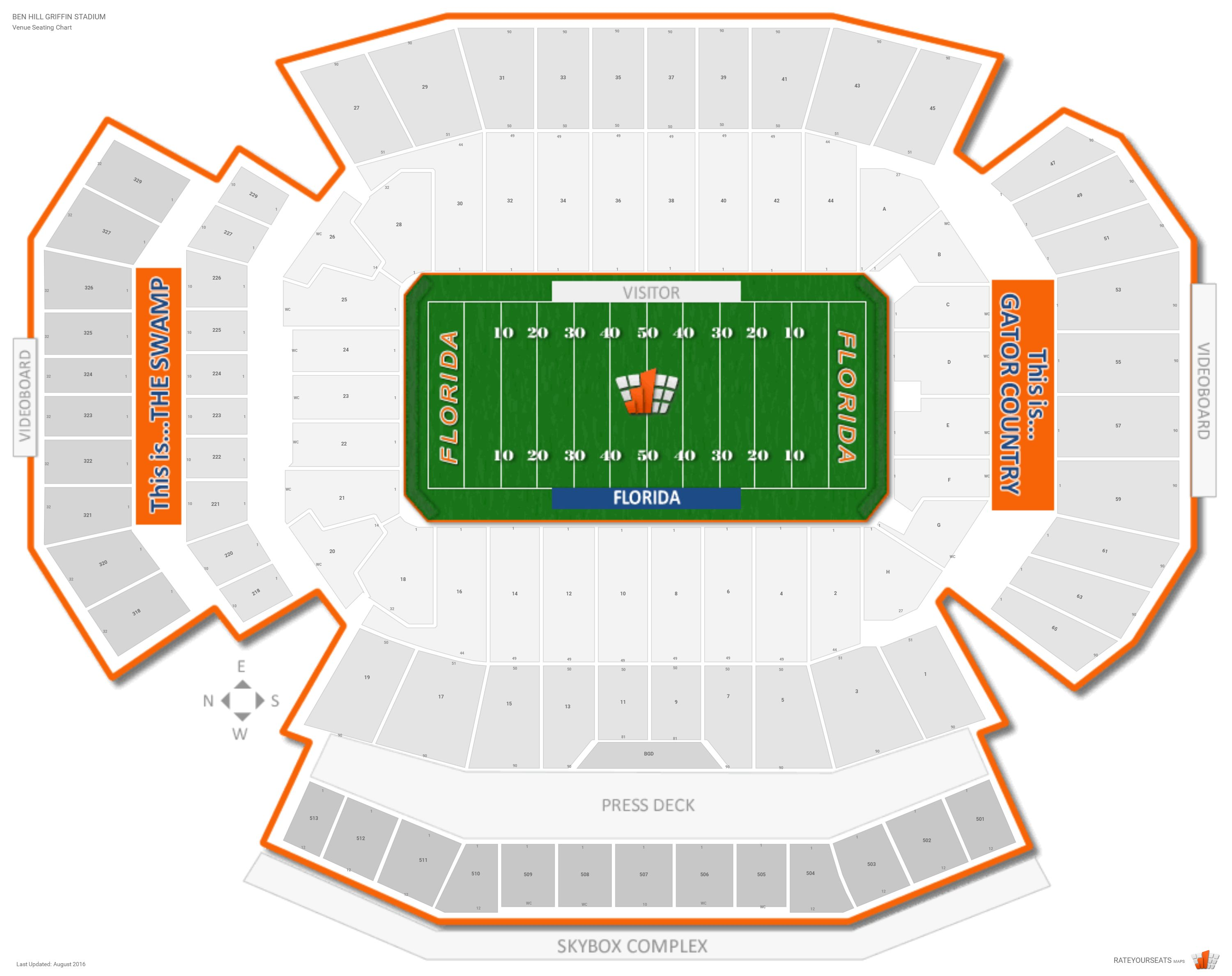 Ben Hill Griffin Stadium (Florida) Seating Guide   RateYourSeats.com
