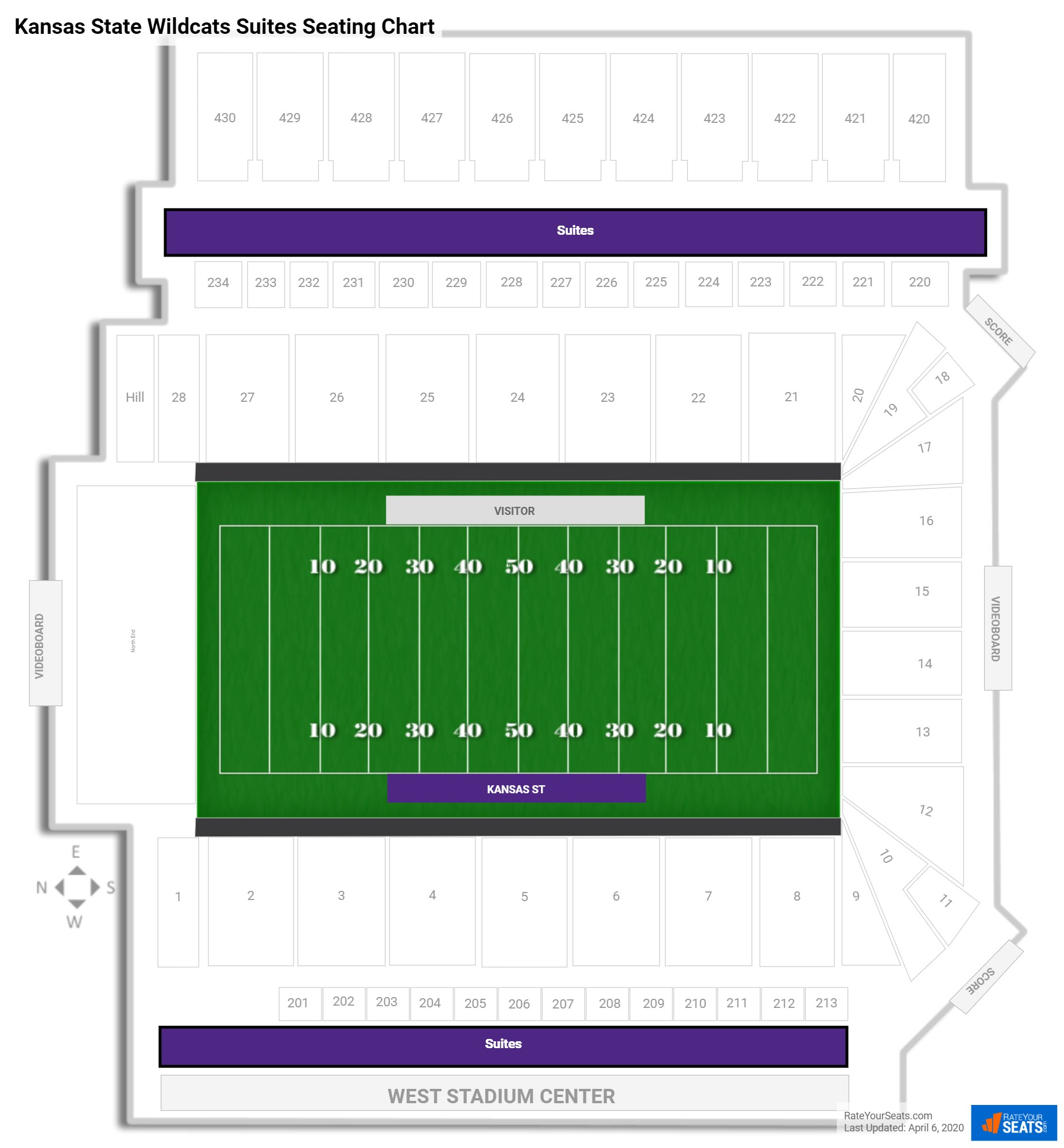 Bill Snyder Family Stadium  seating chart