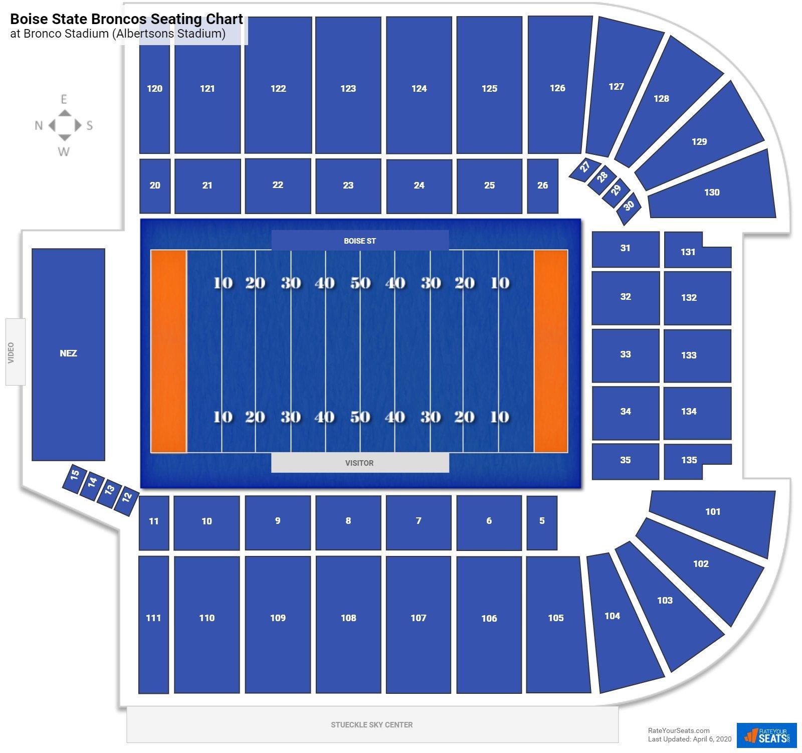 Bronco Stadium Seating Charts Rateyourseats Com