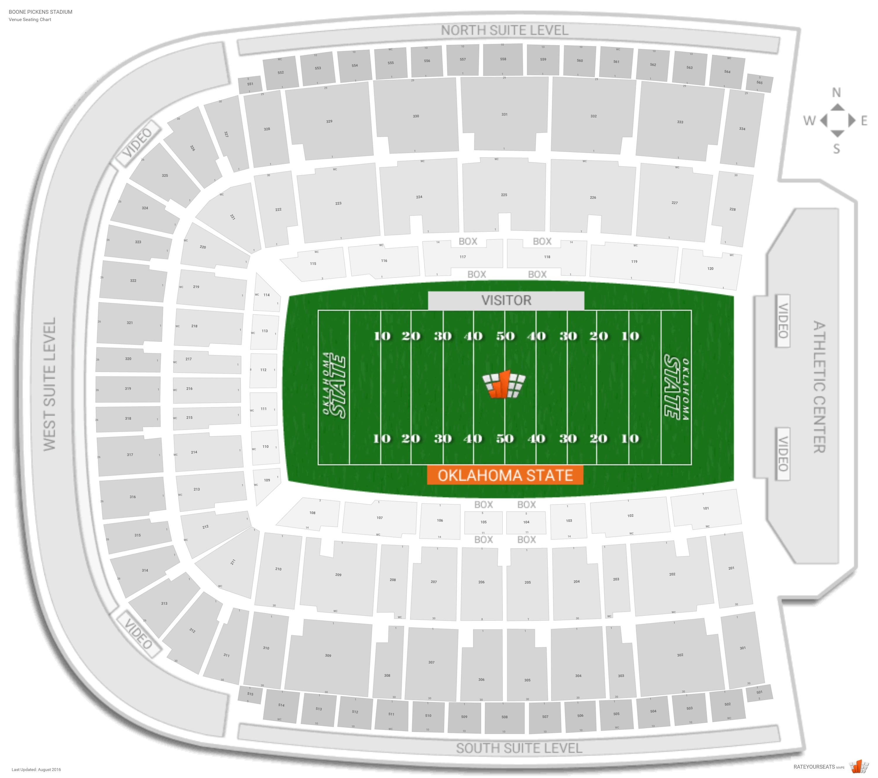 Osu Cowboys Stadium Seating Chart Elcho Table