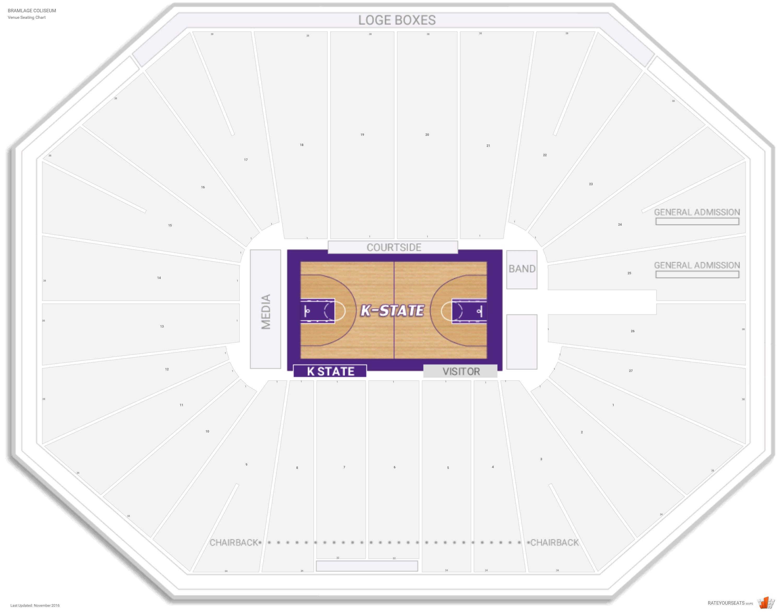 Bramlage coliseum kansas st seating guide rateyourseats com