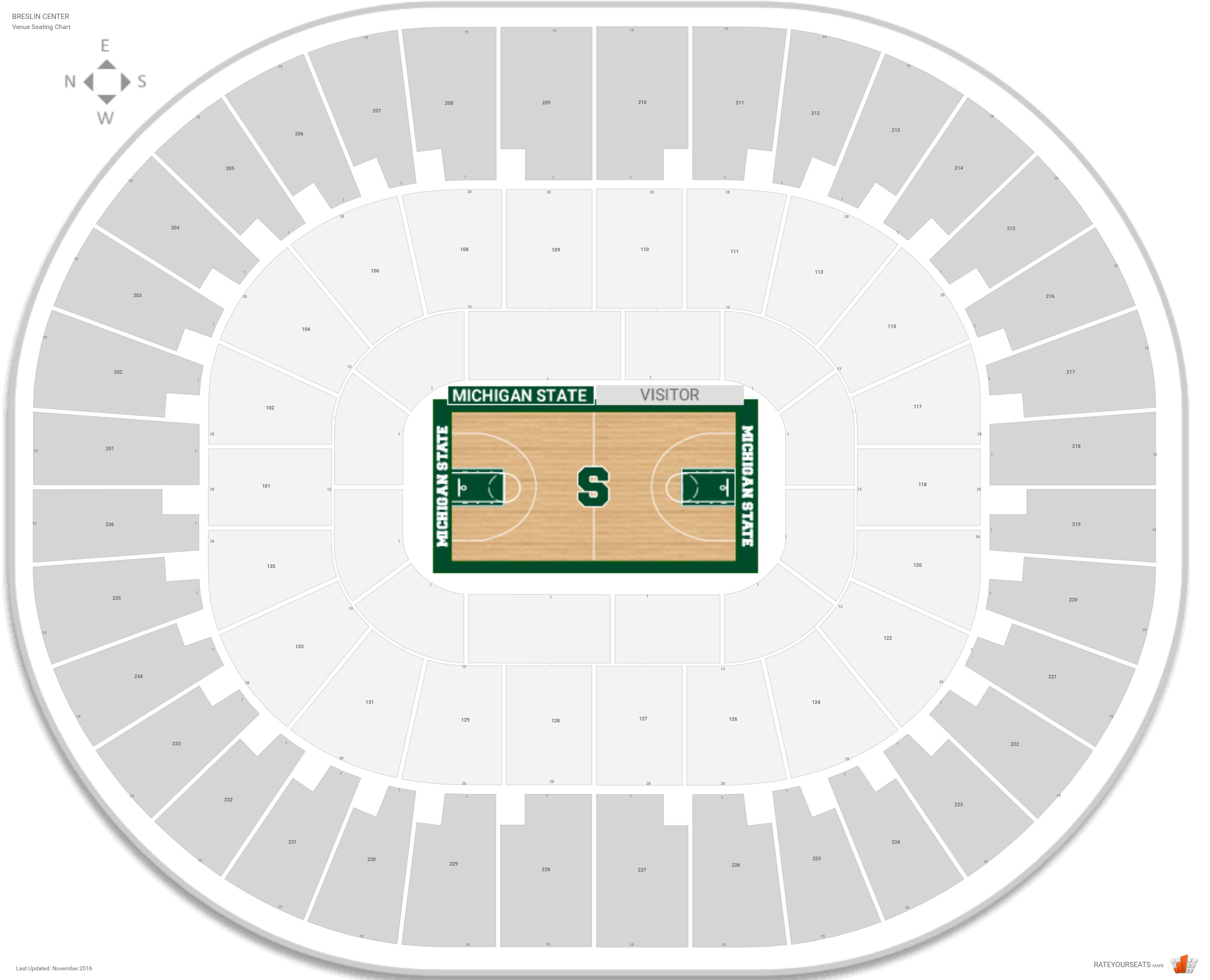 Breslin Center Seating Chart With Row Numbers