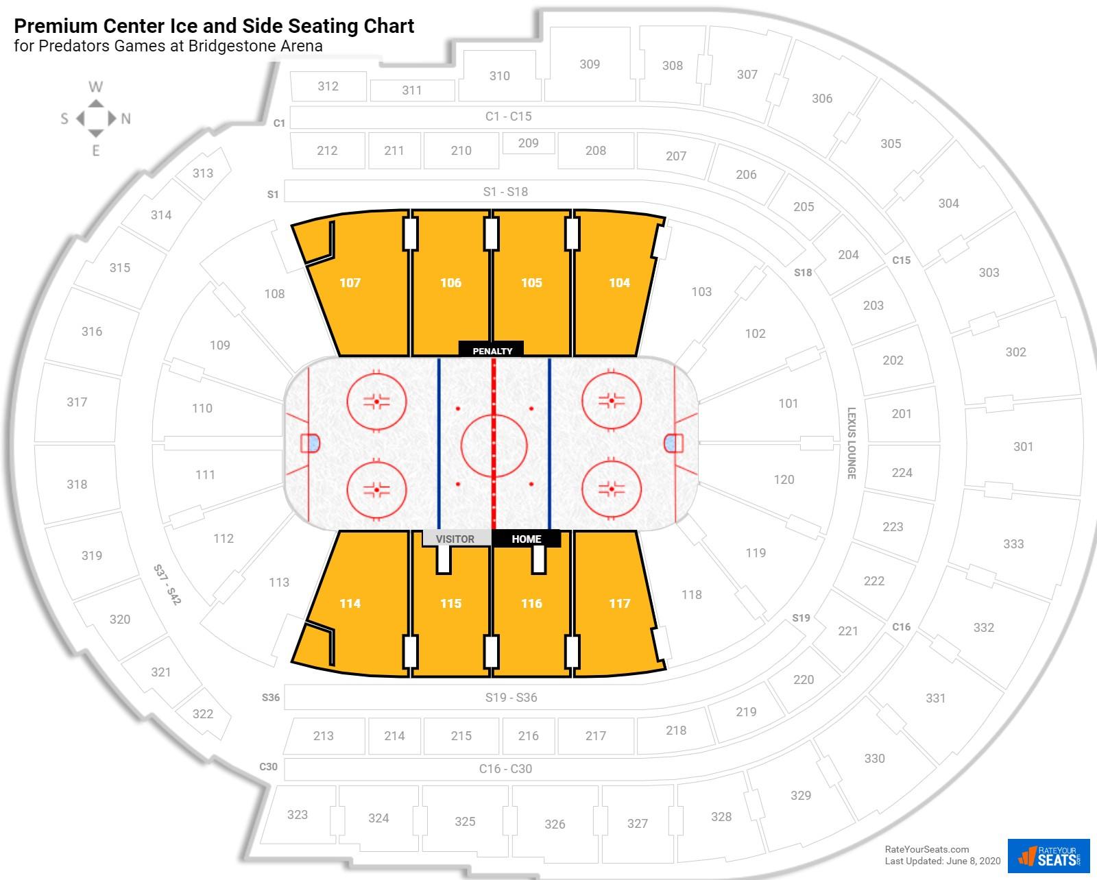 Bridgestone Arena Fan Zone Hockey