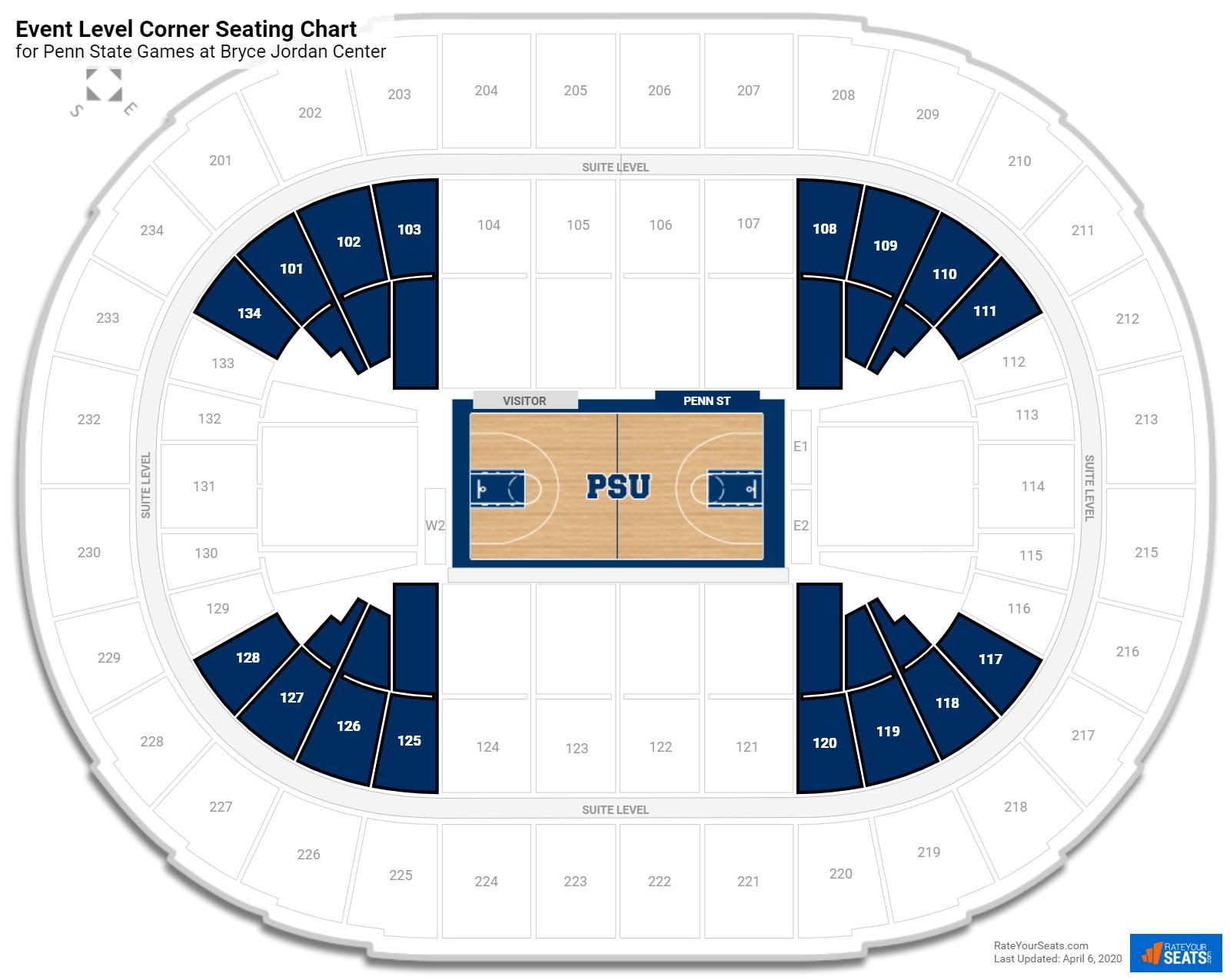 Bryce jordan center penn state seating guide rateyourseats com