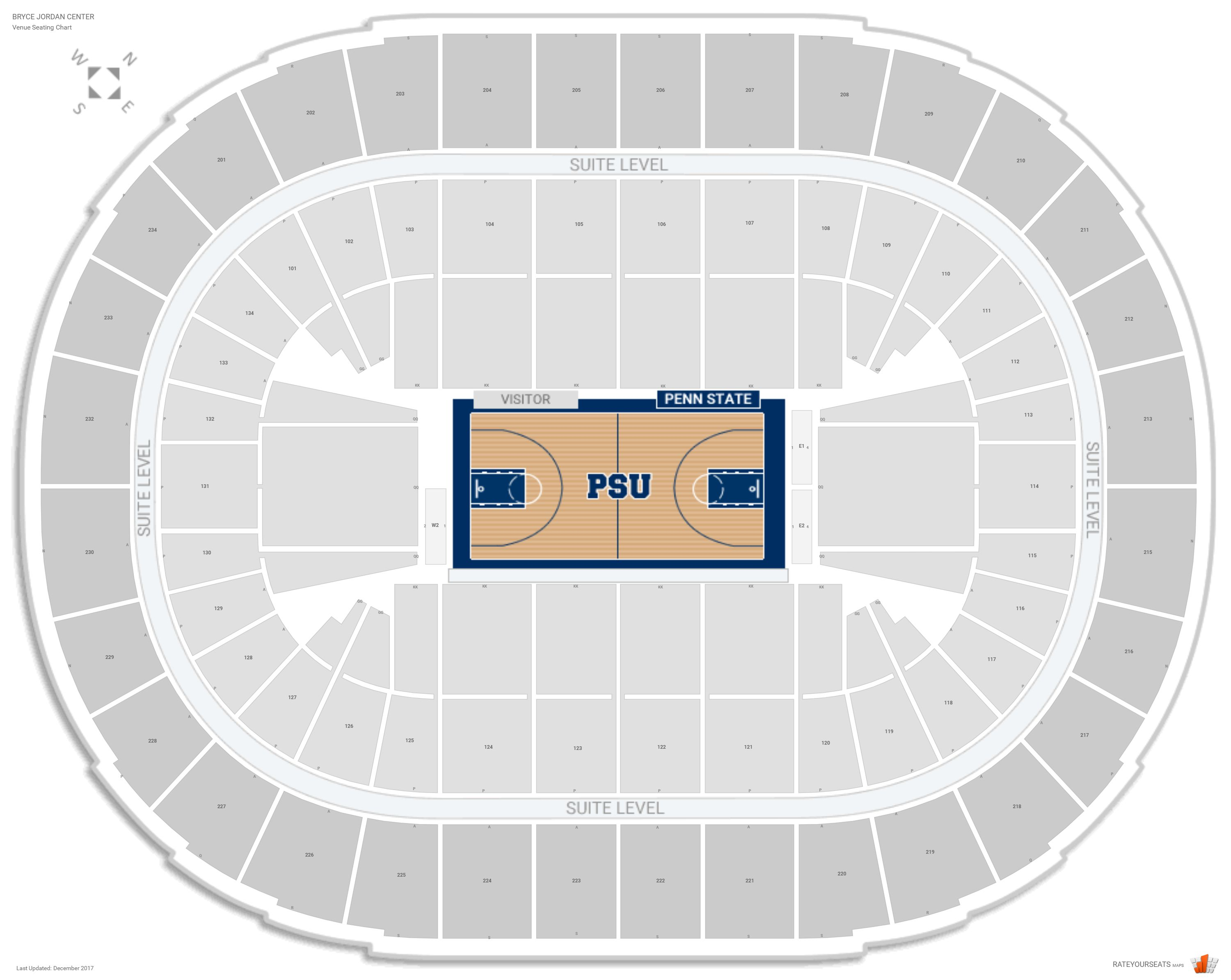 Bryce Jordan Center Seating Chart With Row Numbers