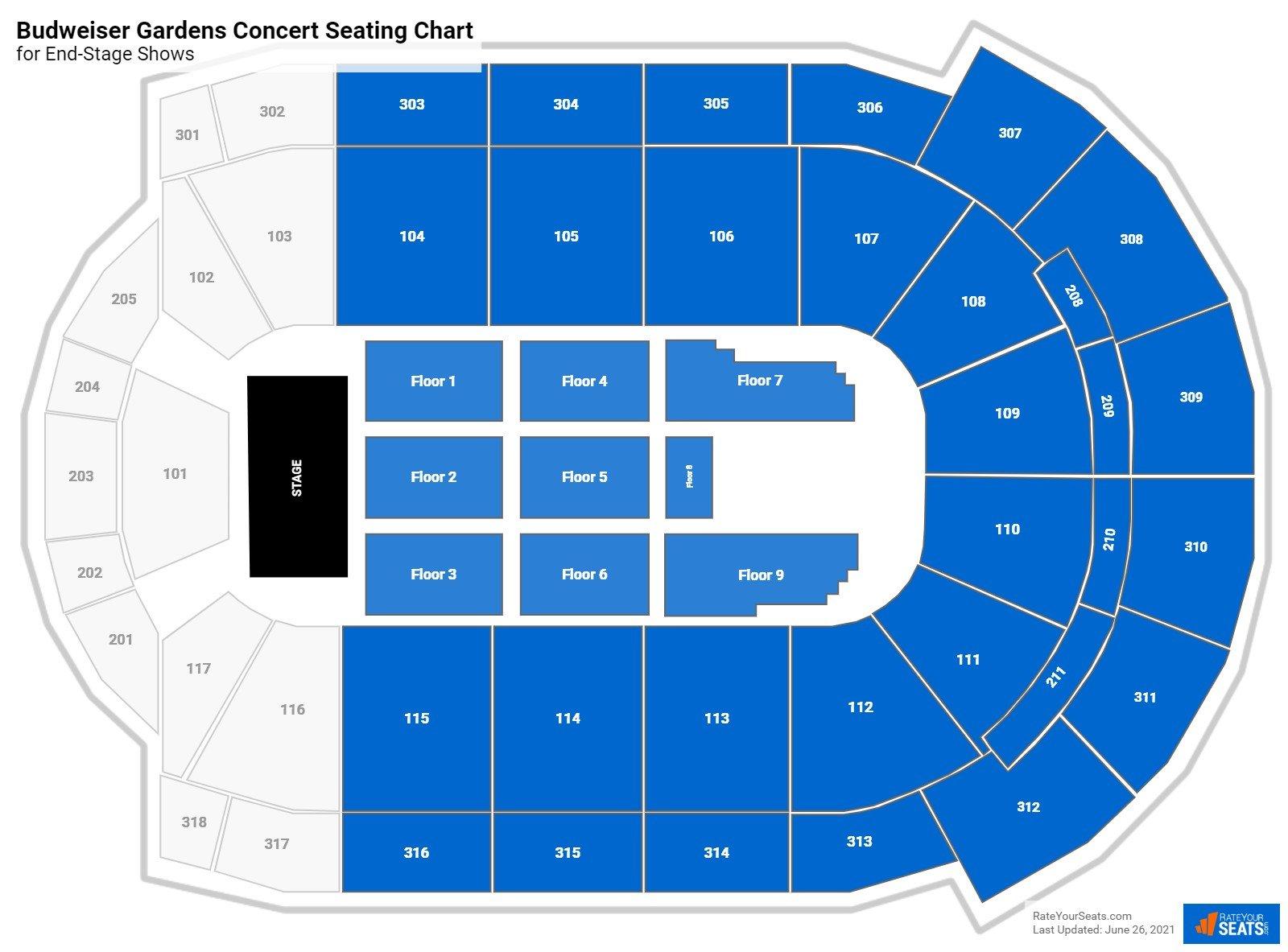 Budweiser Gardens Seating Chart Rateyourseats Com
