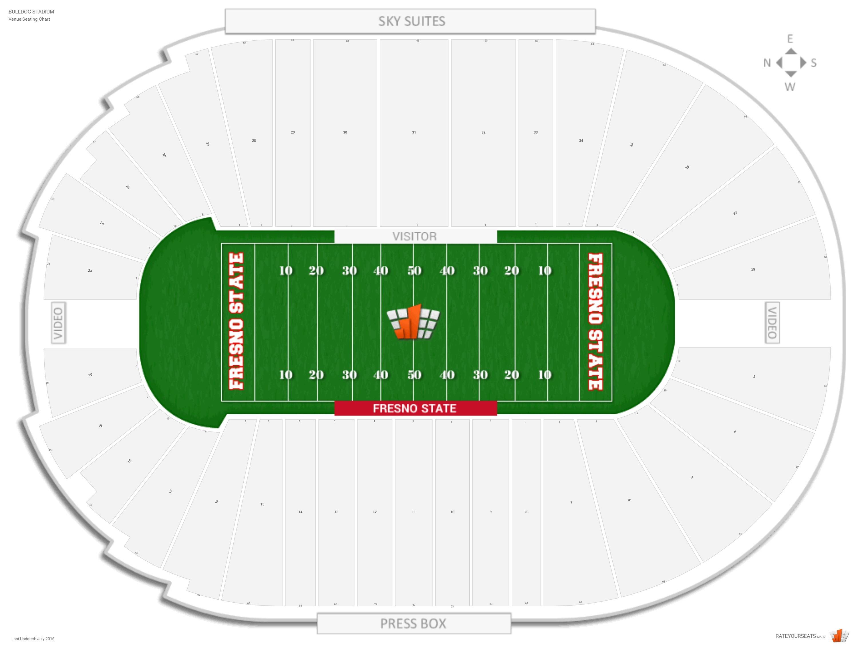 Bulldog Stadium Fresno State Seating Guide Rateyourseats Com