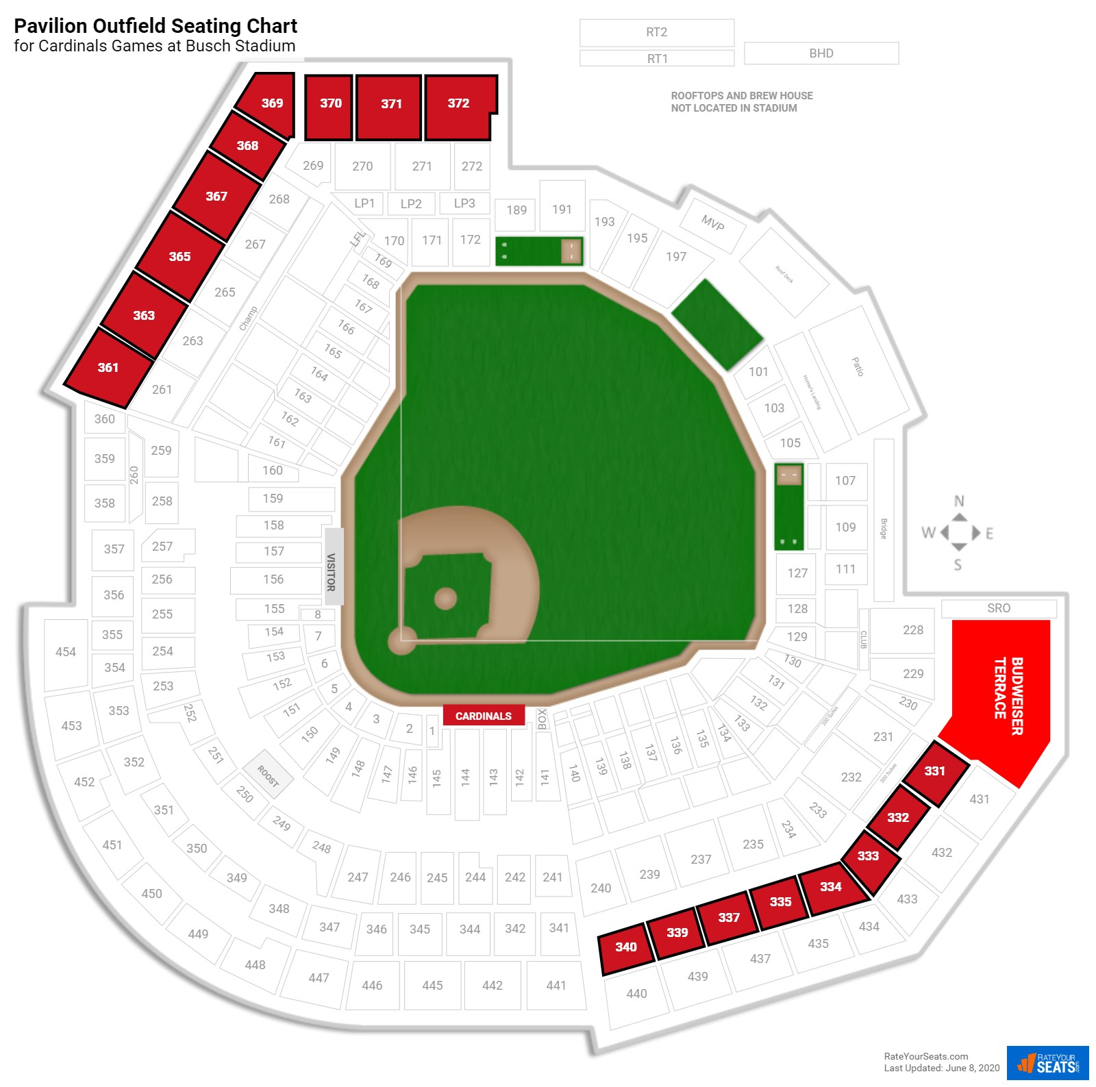 Busch Stadium Virtual Seating Chart Metal Wall Art Panels