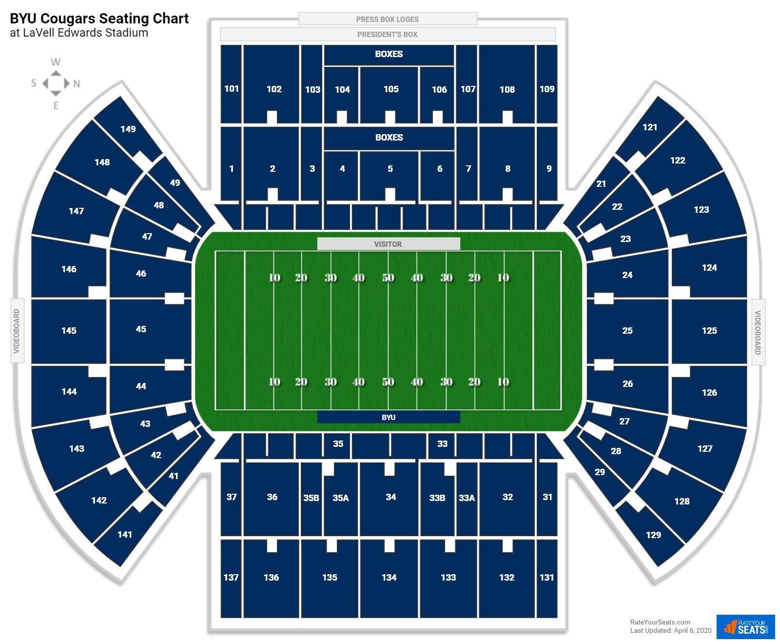 Lavell Edwards Stadium Seating Chart Rateyourseats Com