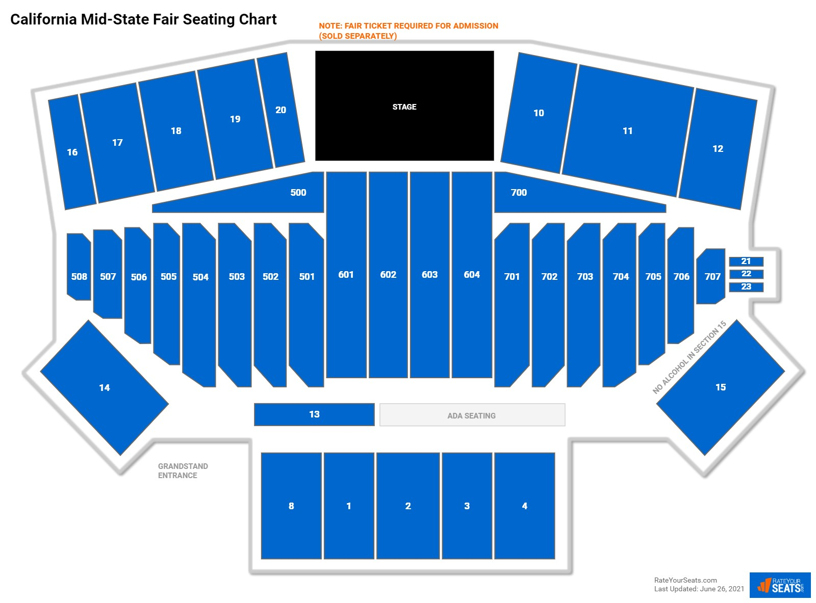 California Mid State Fair Seating Chart Rateyourseats Com