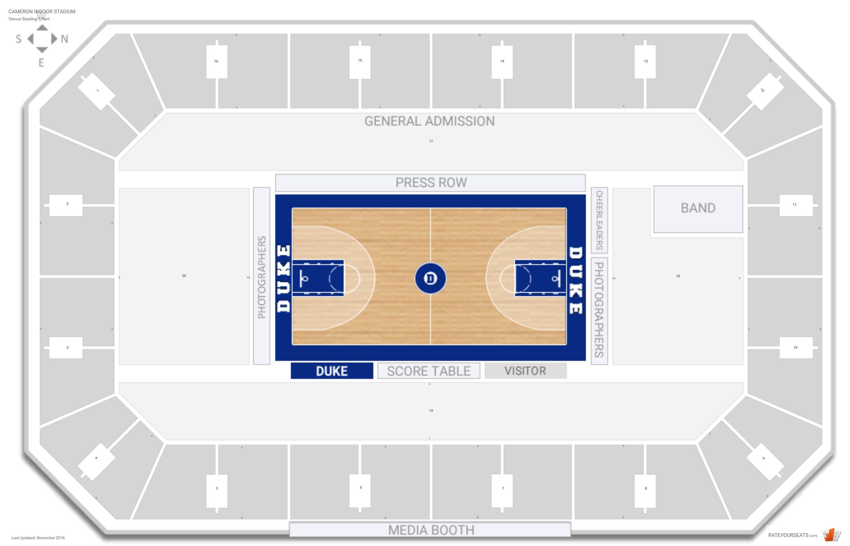 Cameron Indoor Stadium Duke Seating Guide