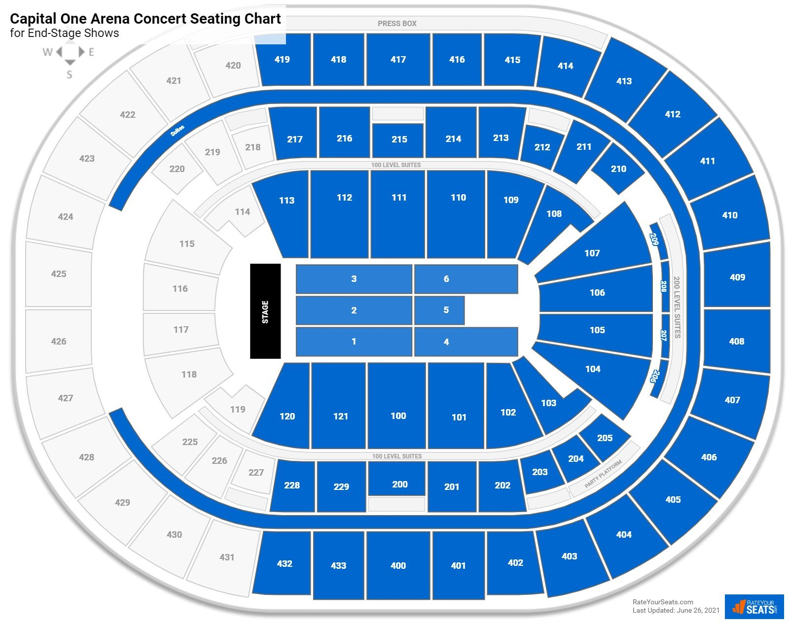 Capital One Arena Seating Charts For Concerts Rateyourseats Com