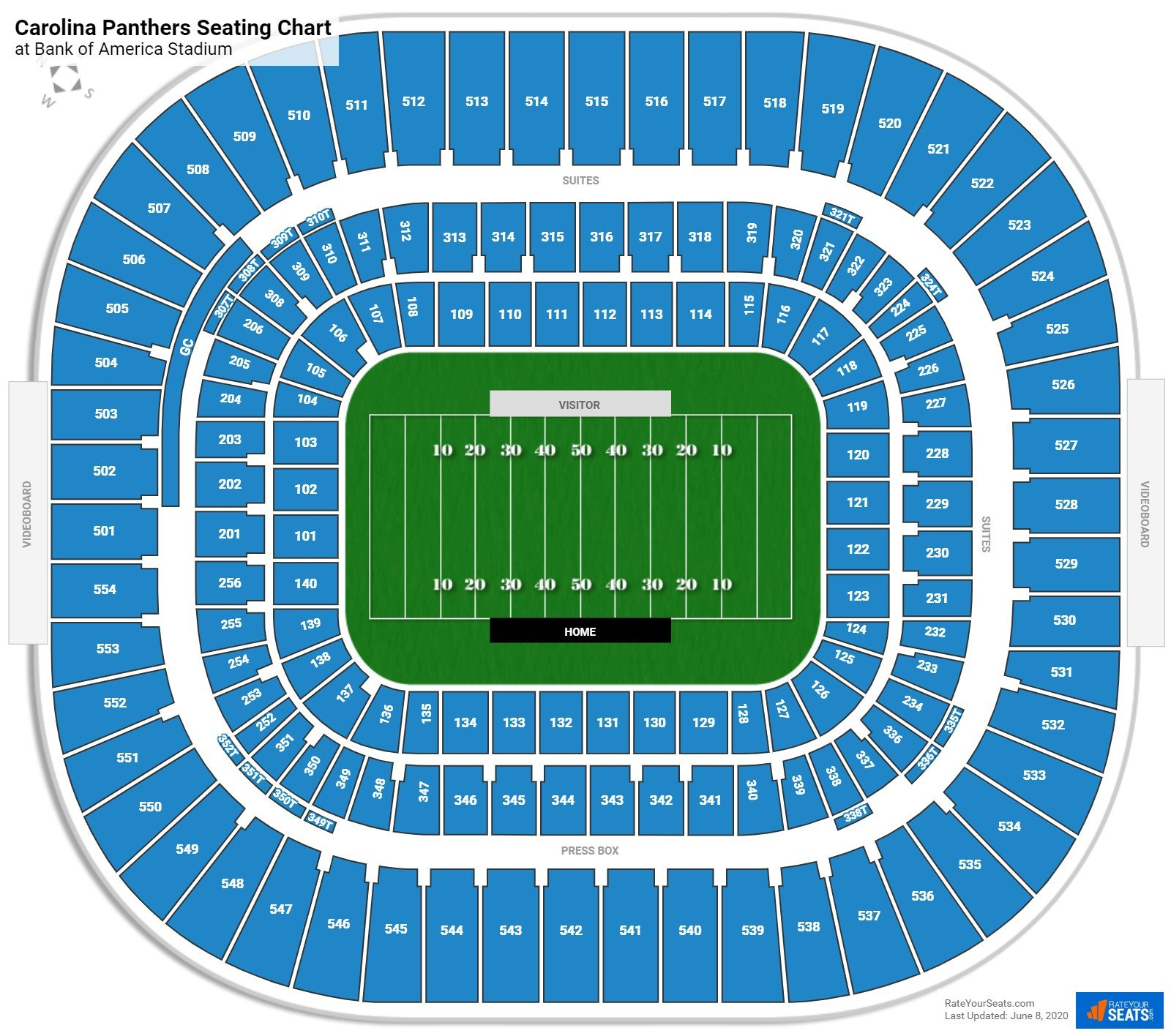 Section 120 at Bank of America Stadium - RateYourSeats.com