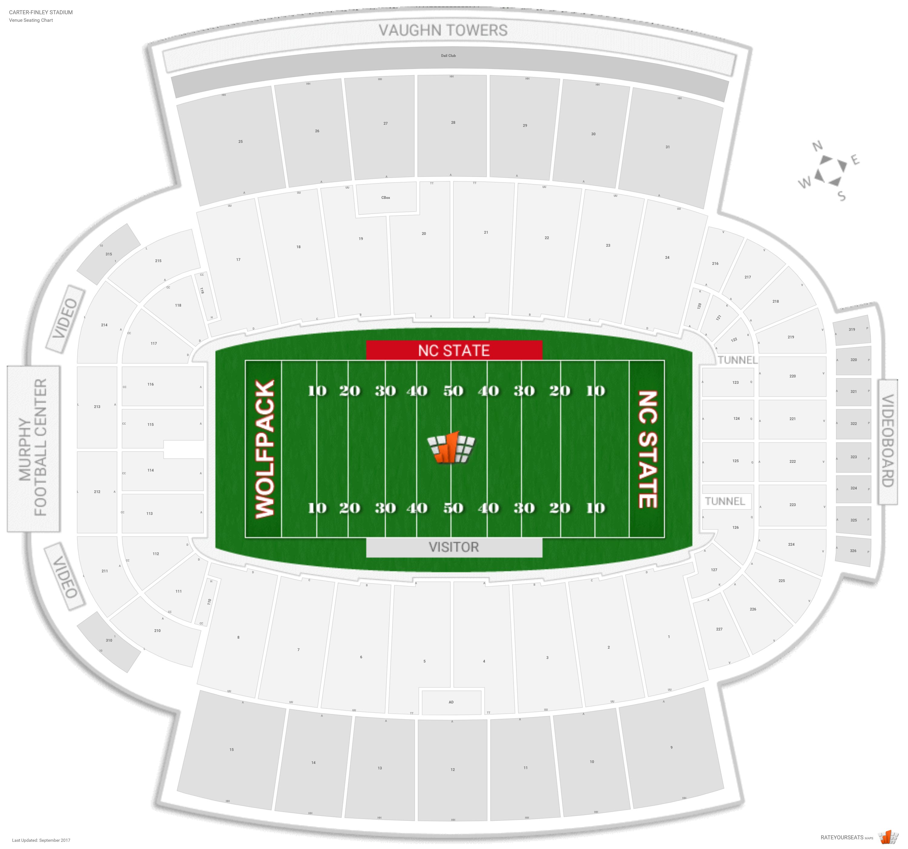 Carter finley stadium nc state seating guide rateyourseats com
