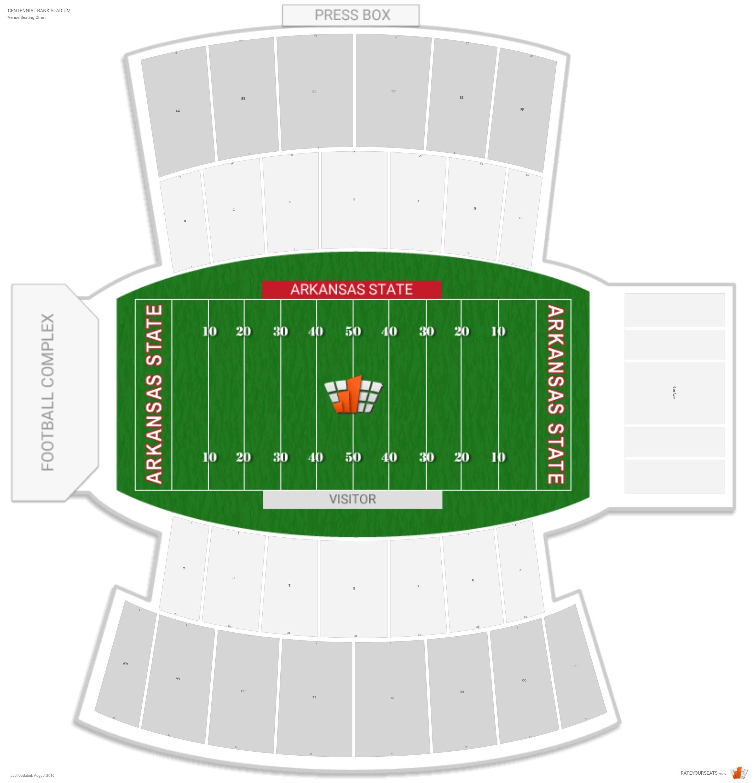 stadium 40 år Centennial Bank Stadium (Arkansas State) Seating Guide  stadium 40 år