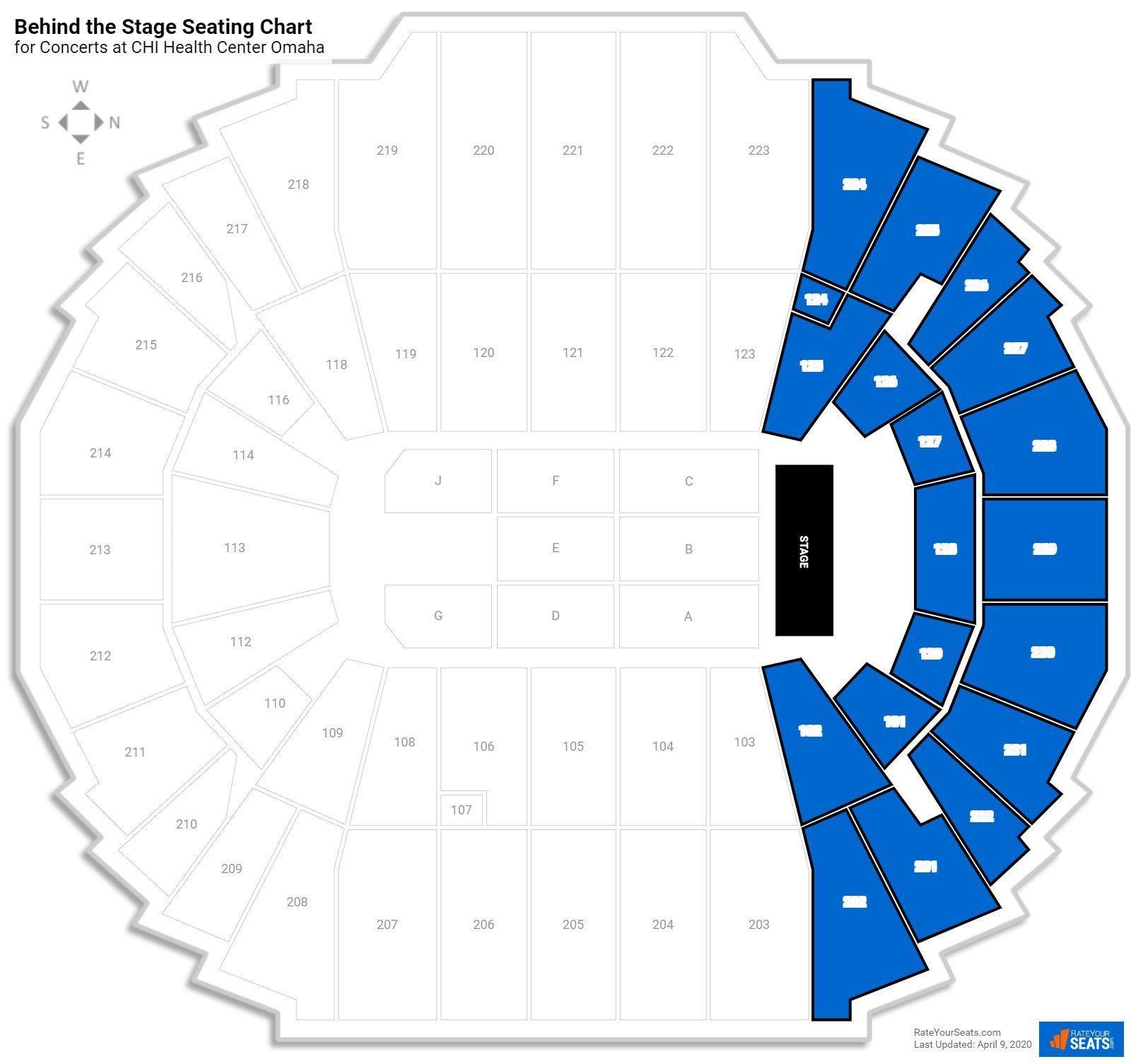 Chi Health Center Omaha Concert Seating Guide Rateyourseatscom