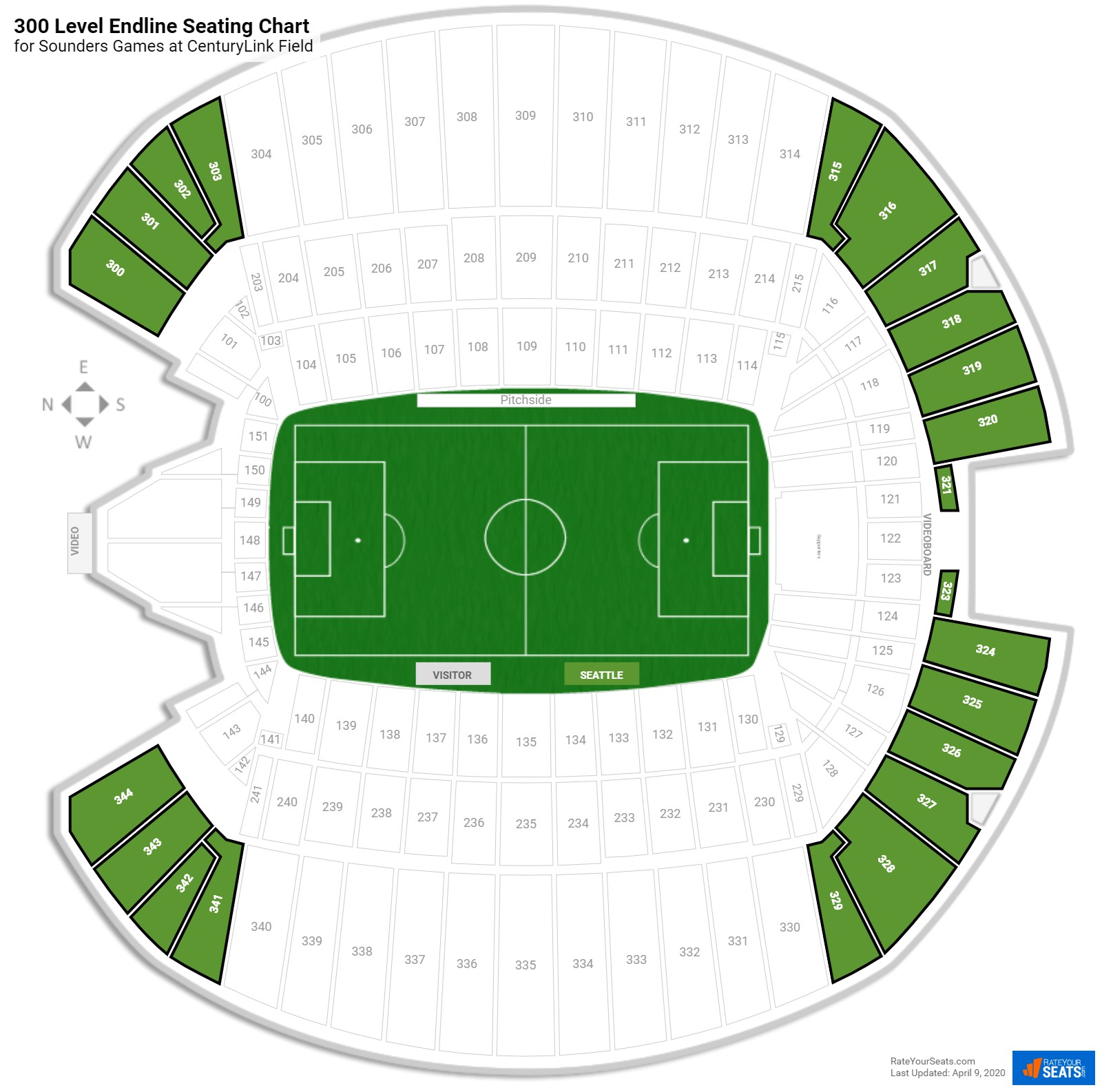 Centurylink Field Soccer Seating Guide Rateyourseatscom