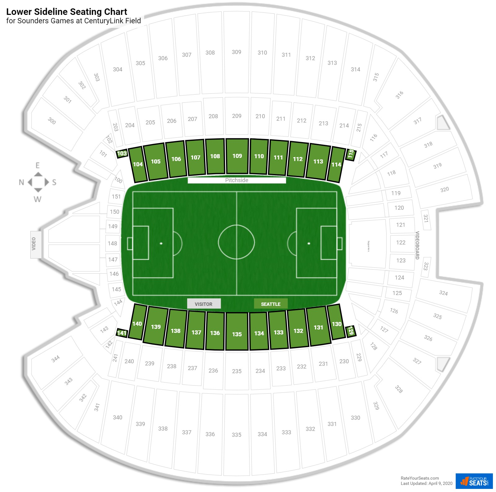 CenturyLink Field Soccer Seating Guide - RateYourSeats.com on