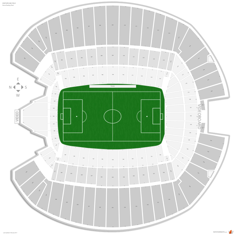 century link stadium seating chart