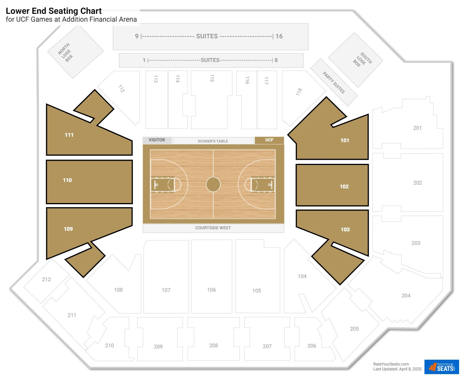 CFE Arena Lower Baseline seating chart