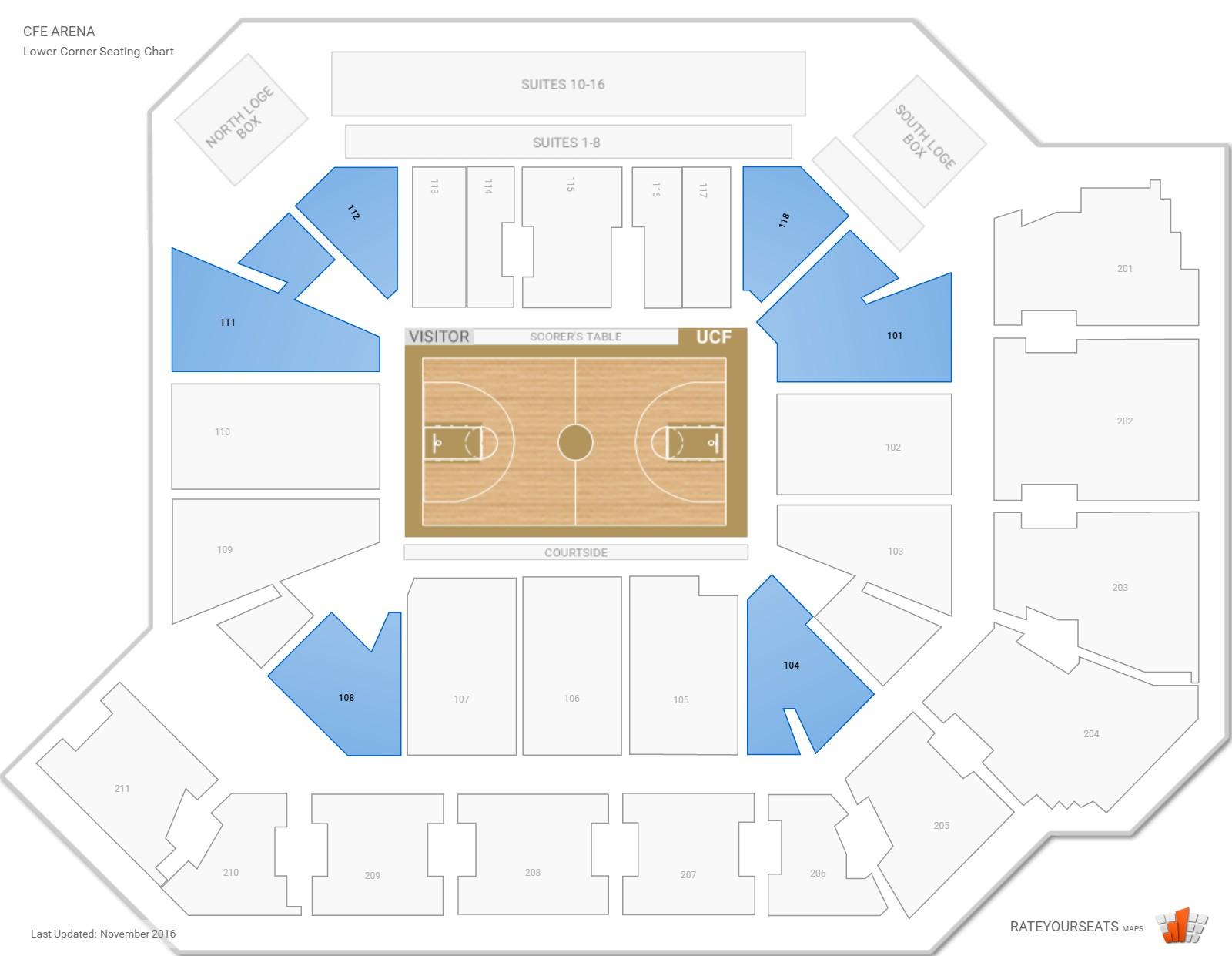 Cfe Arena Ucf Seating Guide Rateyourseatscom