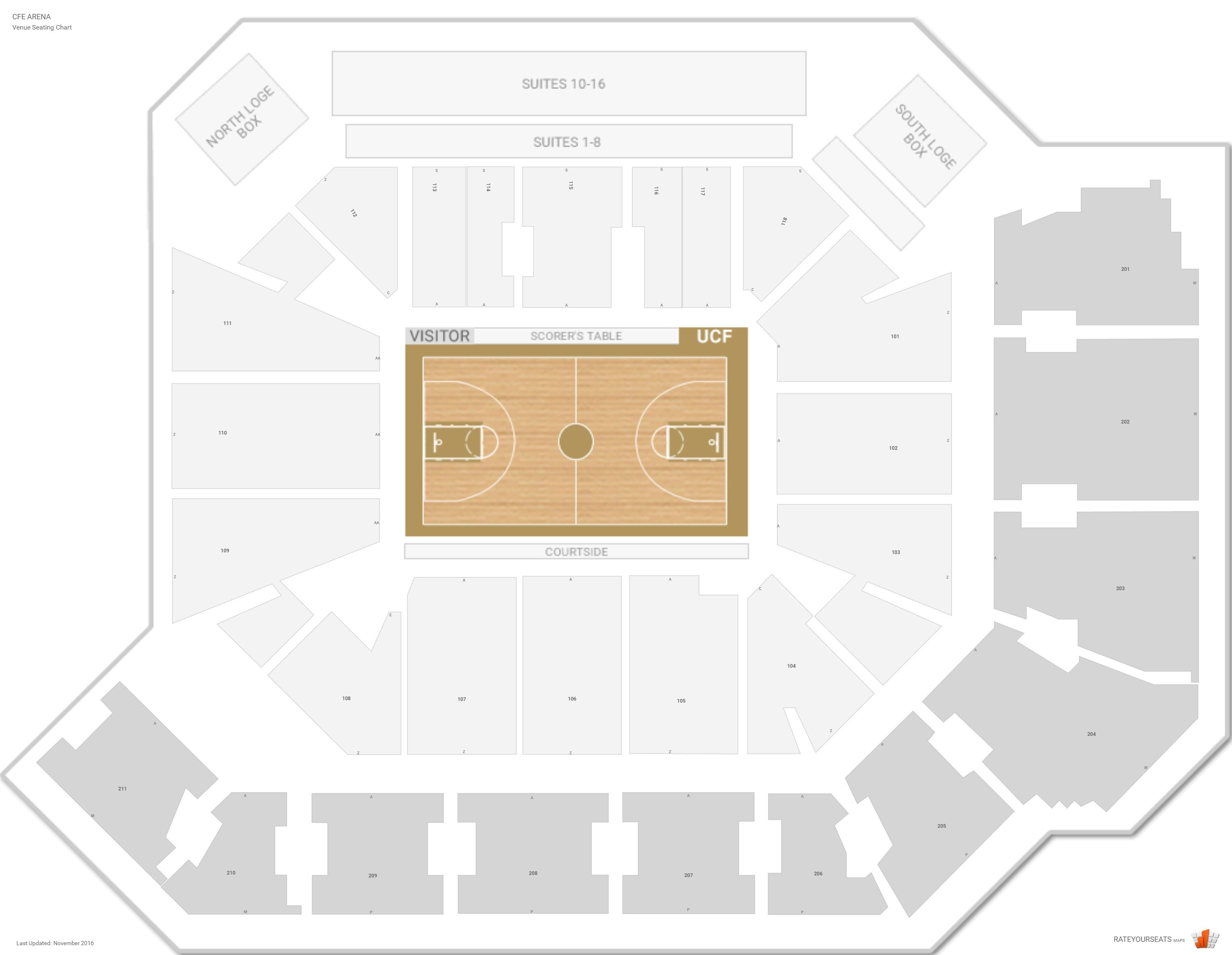 University Of Florida Basketball Stadium Seating Chart