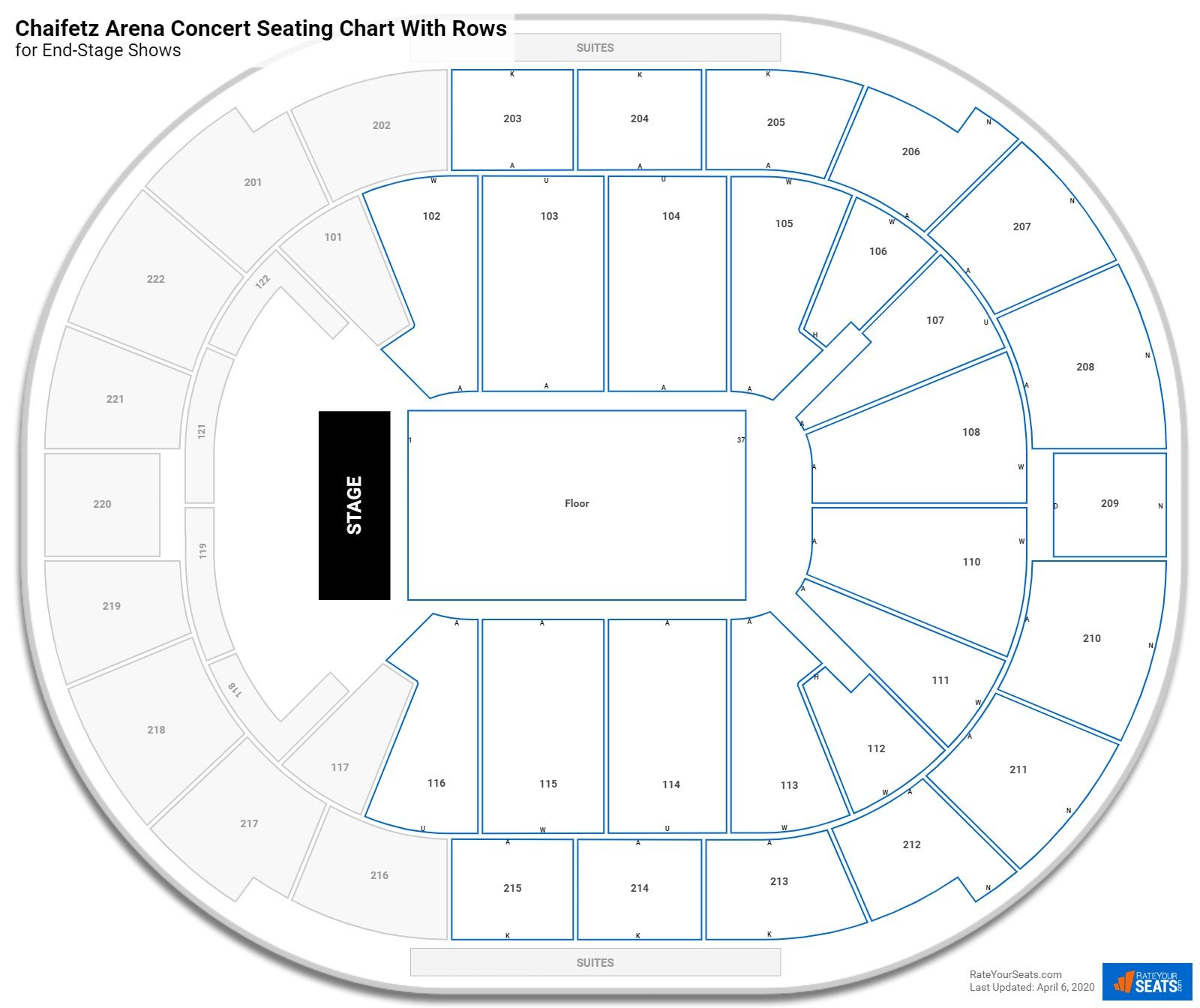 Chaifetz Arena seating chart with rows concert