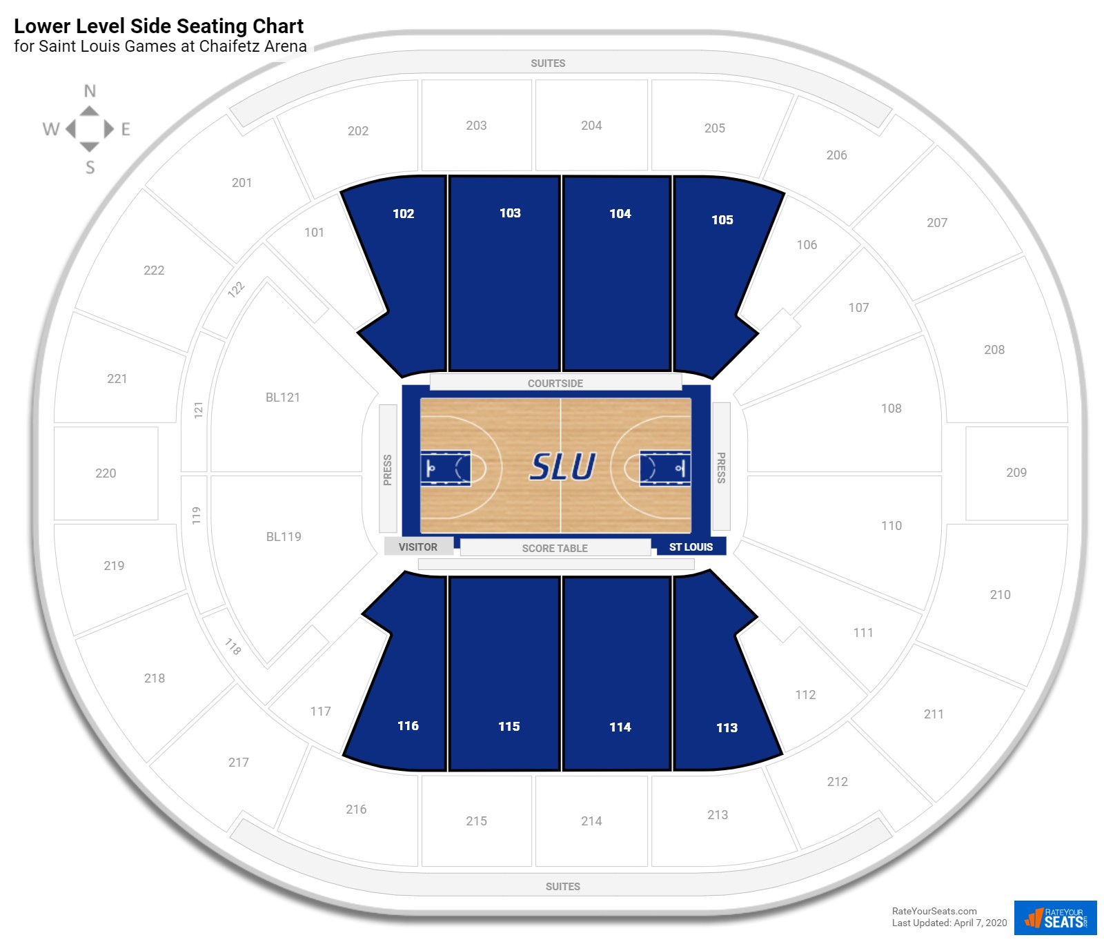 Chaifetz Arena Lower Level Side seating chart